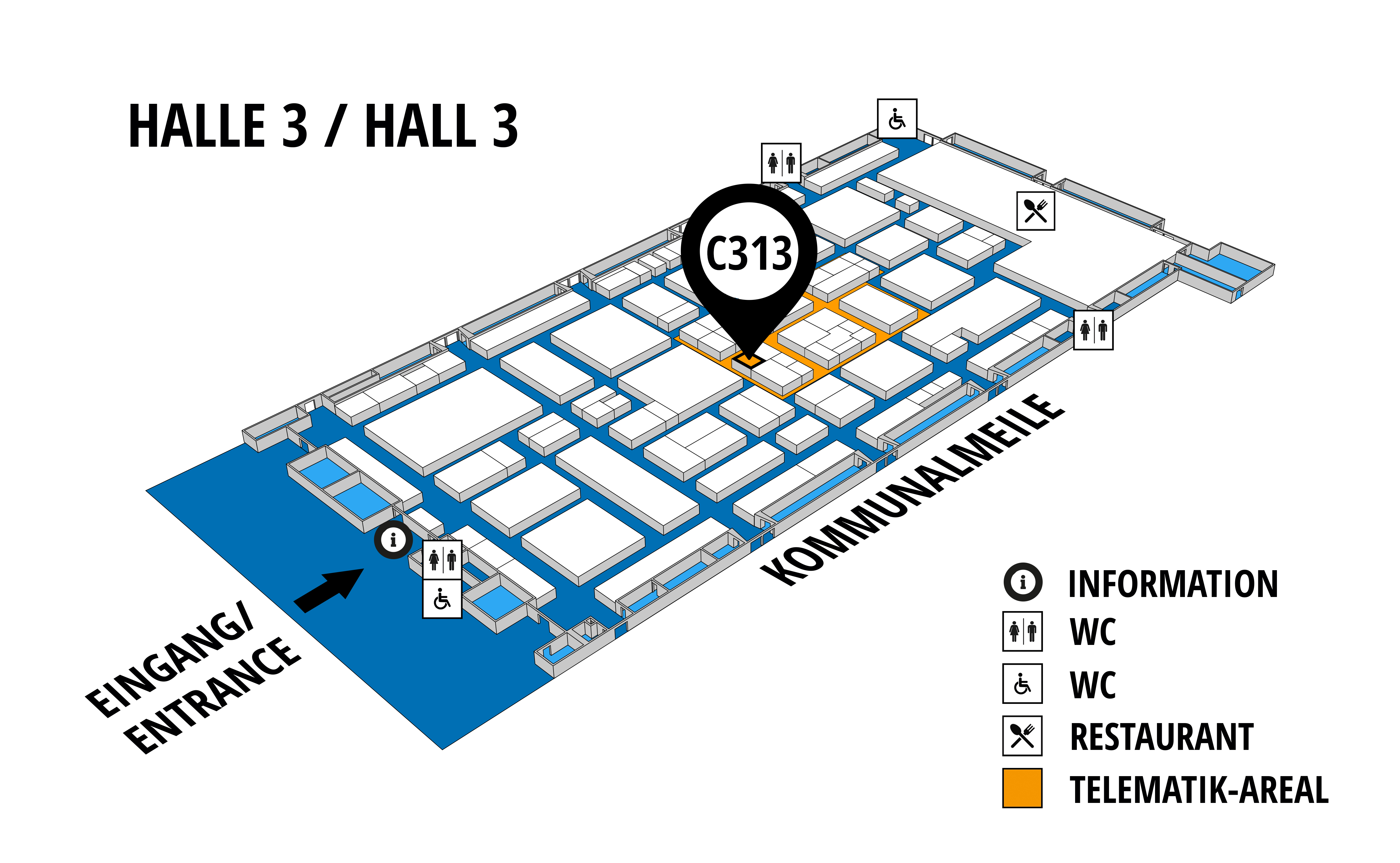NUFAM 2019 - Trade fair for commercial vehicles hall map (Hall 3): stand C 313