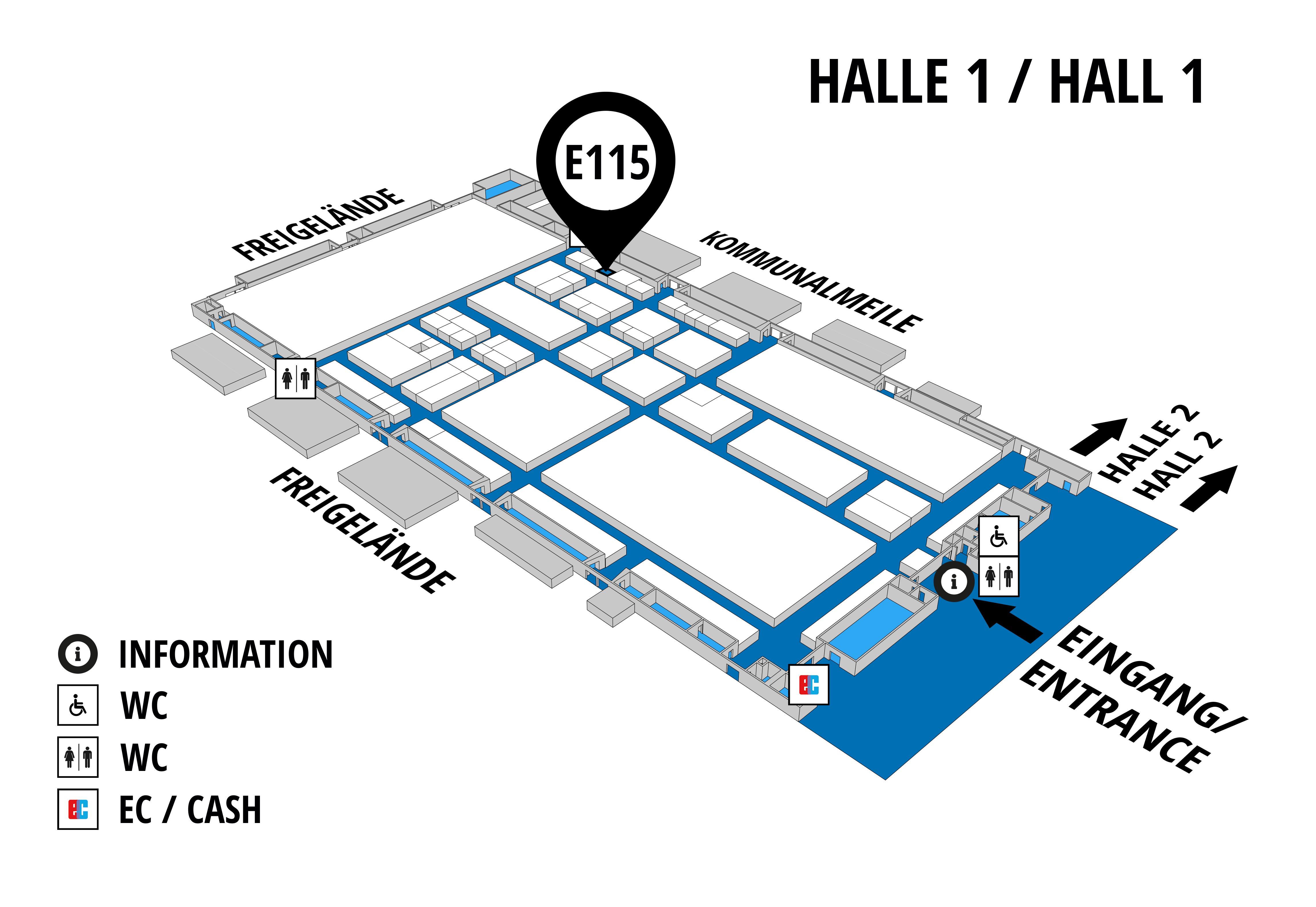 NUFAM 2019 - Trade fair for commercial vehicles hall map (Hall 1): stand E 115