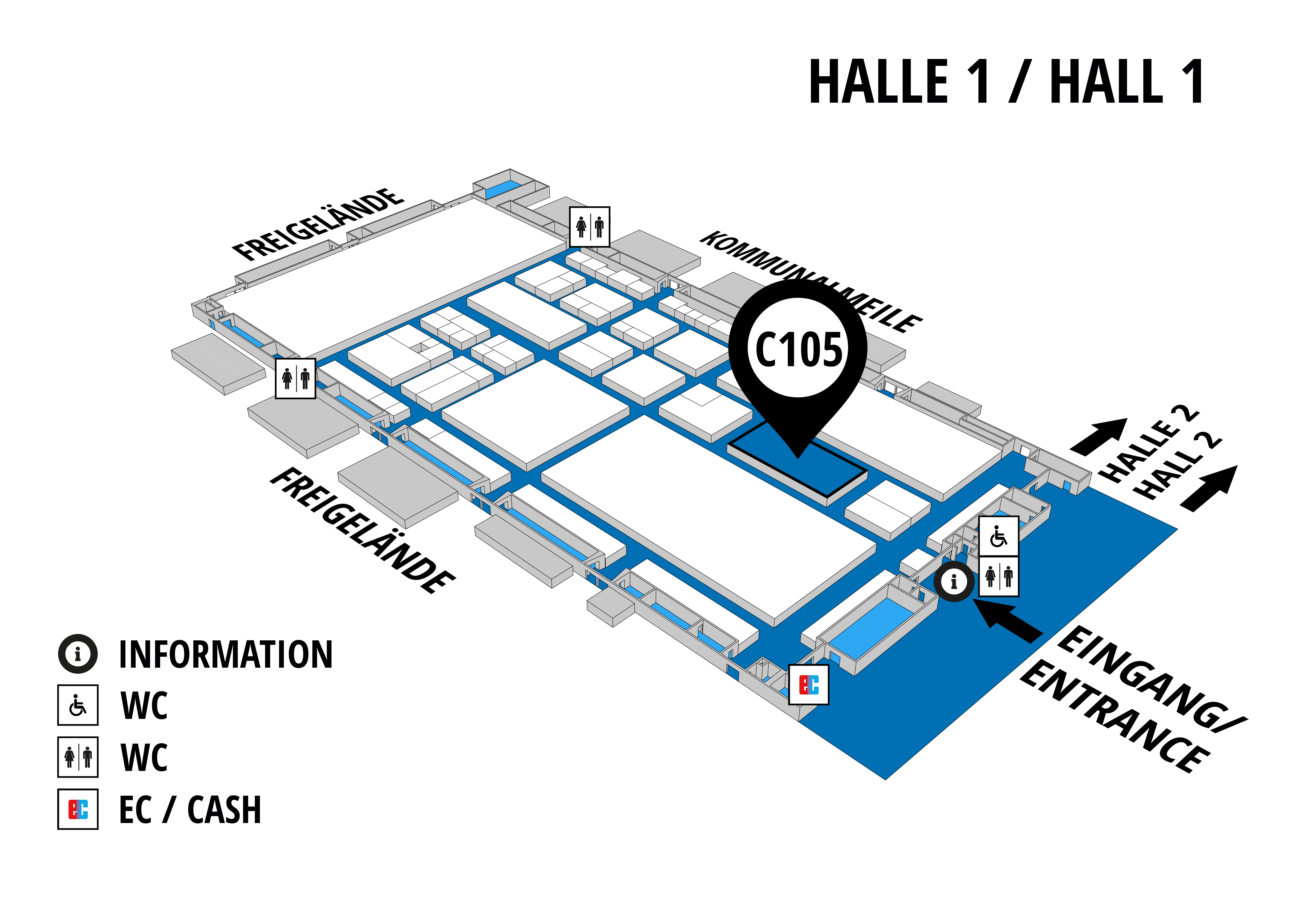 NUFAM 2019 - Trade fair for commercial vehicles hall map (Hall 1): stand C 105
