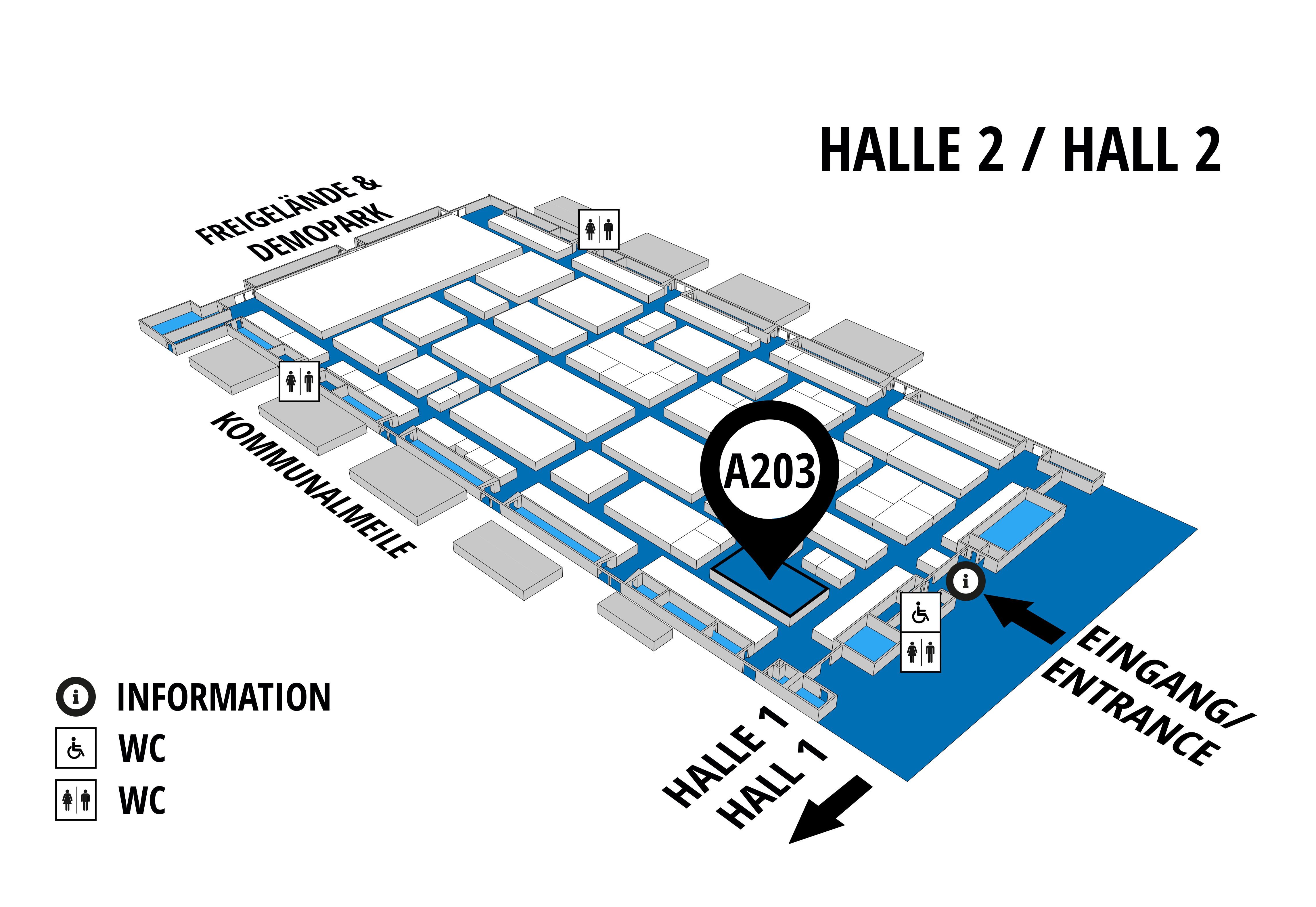 NUFAM 2019 - Trade fair for commercial vehicles hall map (Hall 2): stand A 203