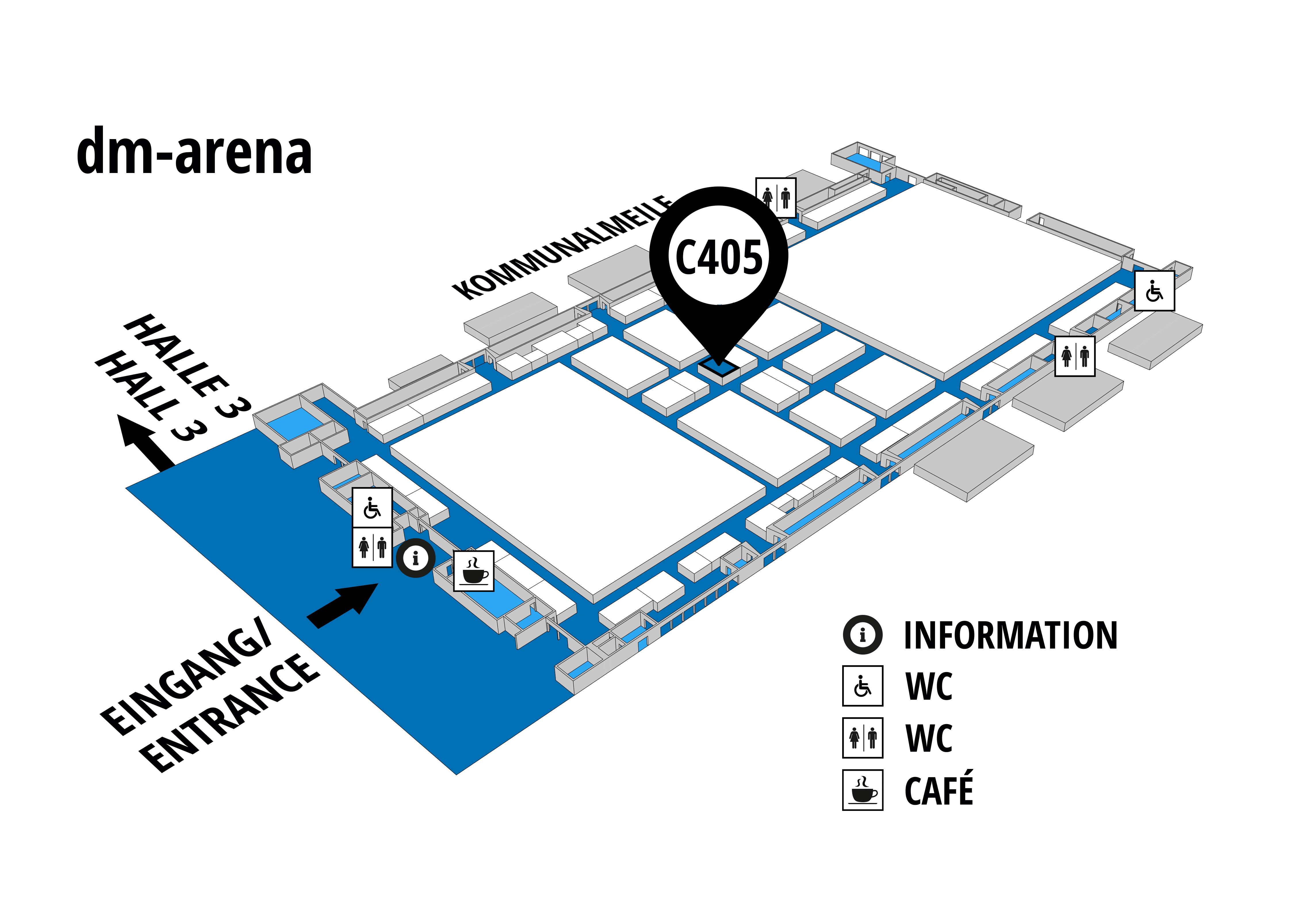 NUFAM 2019 - Trade fair for commercial vehicles hall map (dm-arena): stand C 405