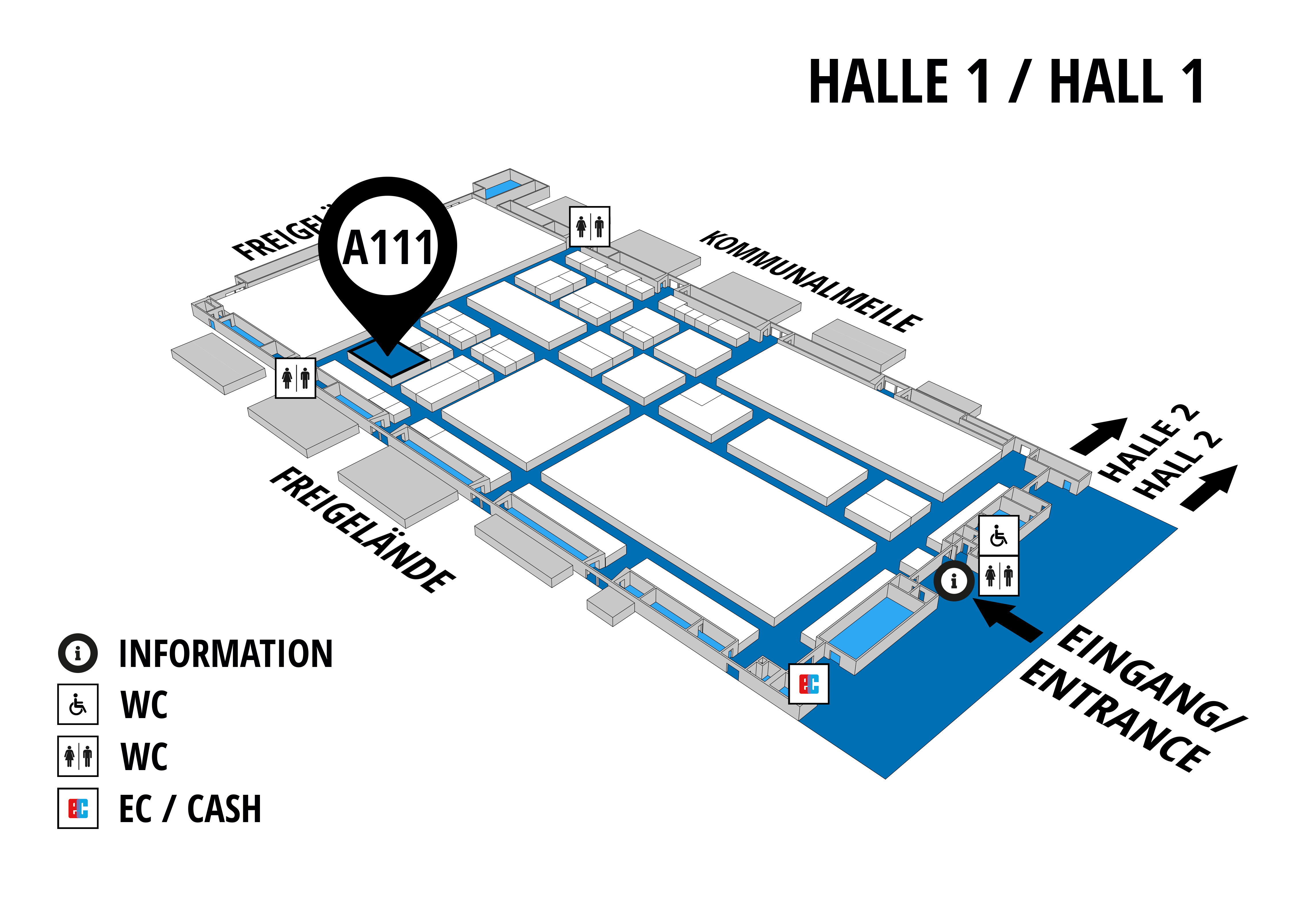 NUFAM 2019 - Trade fair for commercial vehicles hall map (Hall 1): stand A 111
