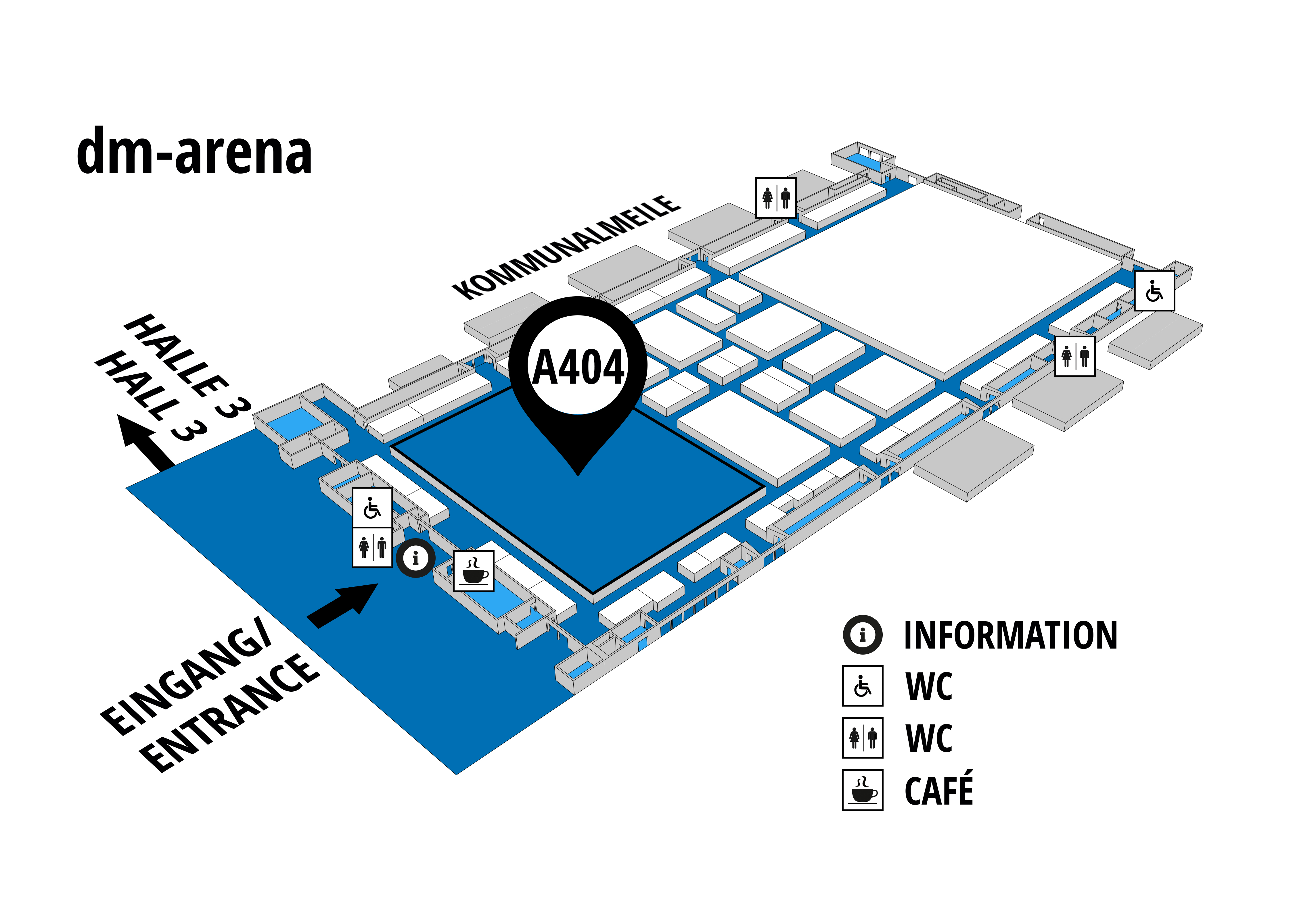 NUFAM 2019 - Trade fair for commercial vehicles hall map (dm-arena): stand A 404
