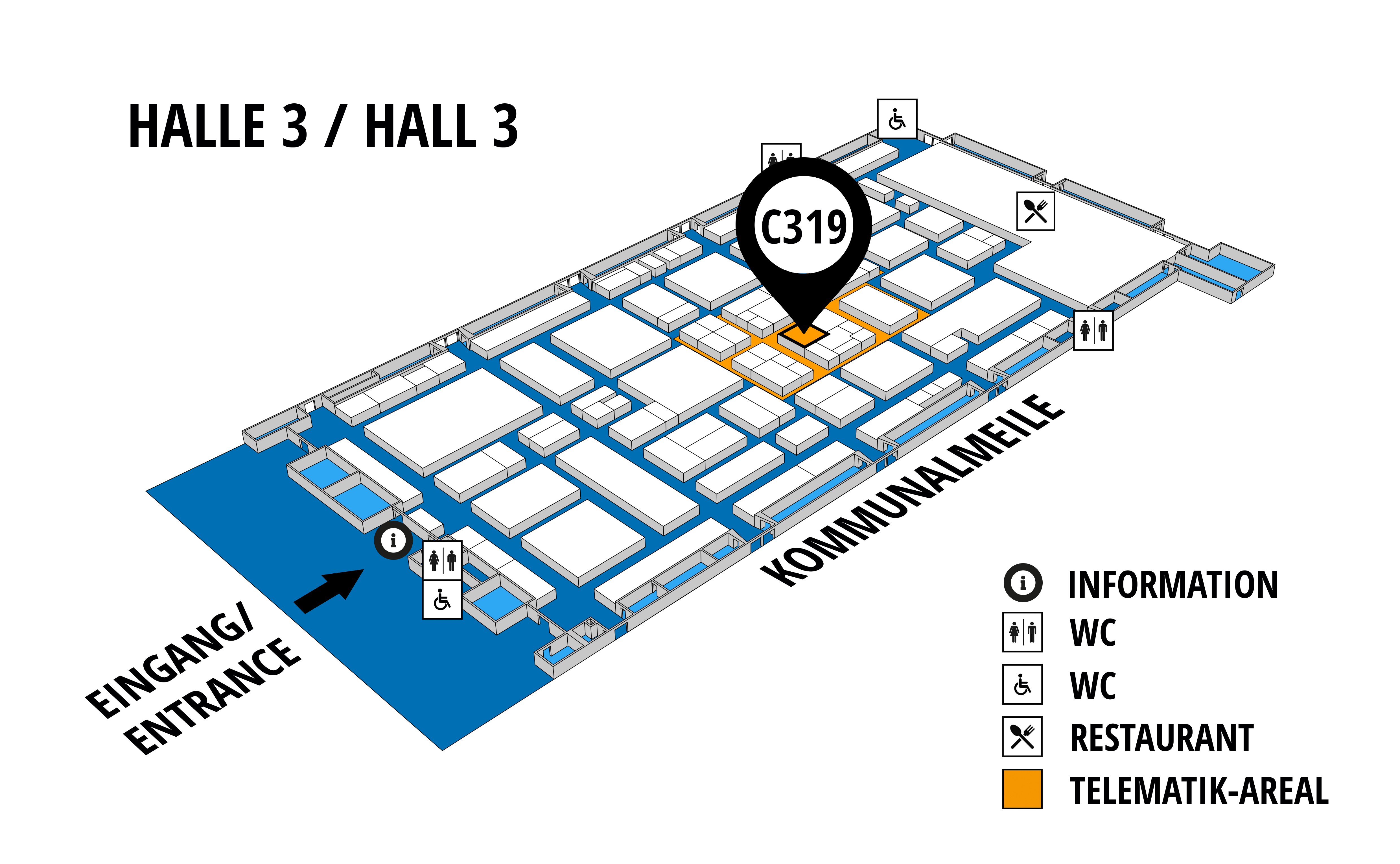 NUFAM 2019 - Trade fair for commercial vehicles hall map (Hall 3): stand C 319