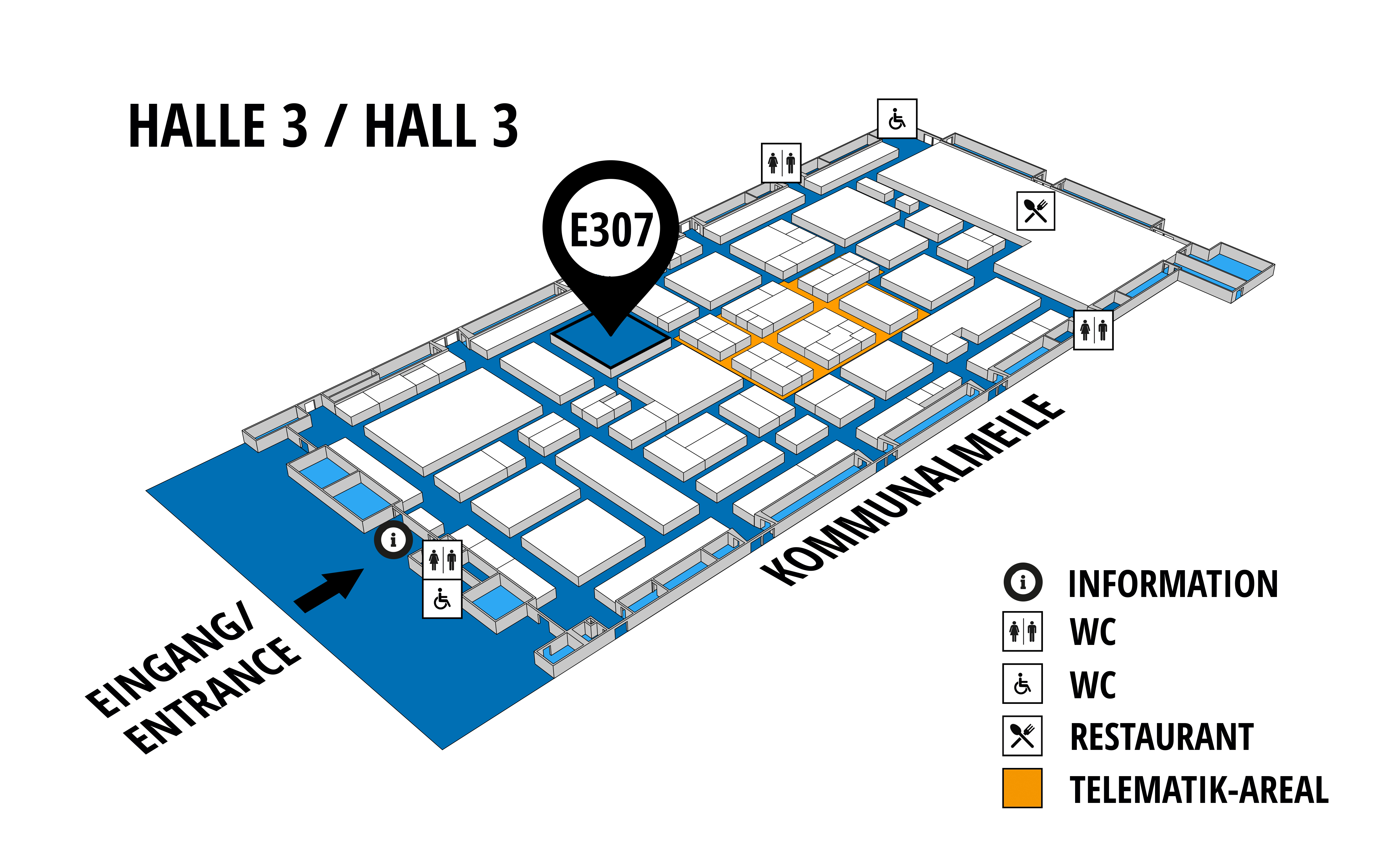 NUFAM 2019 - Trade fair for commercial vehicles hall map (Hall 3): stand E 307