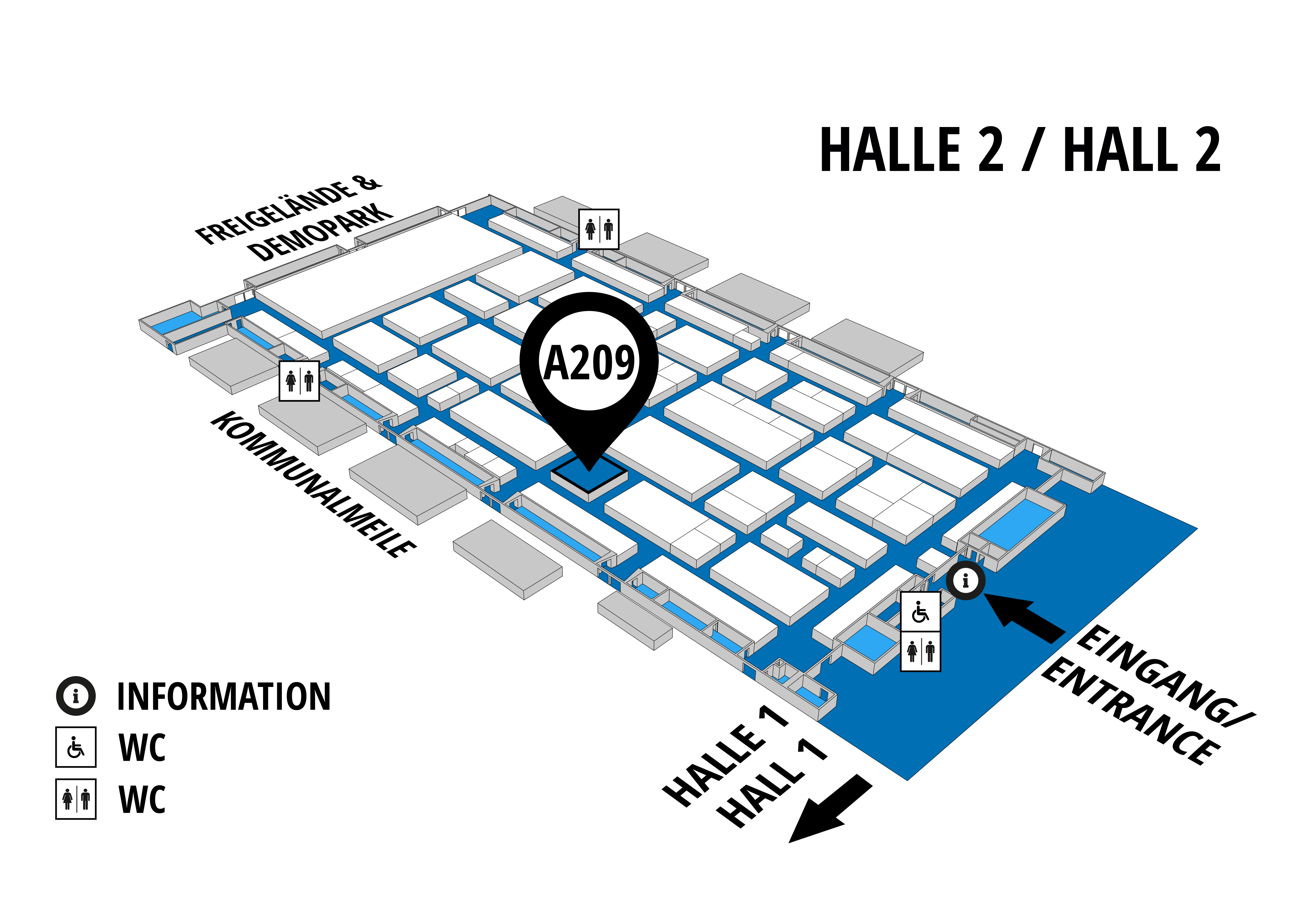 NUFAM 2019 - Trade fair for commercial vehicles hall map (Hall 2): stand A 209