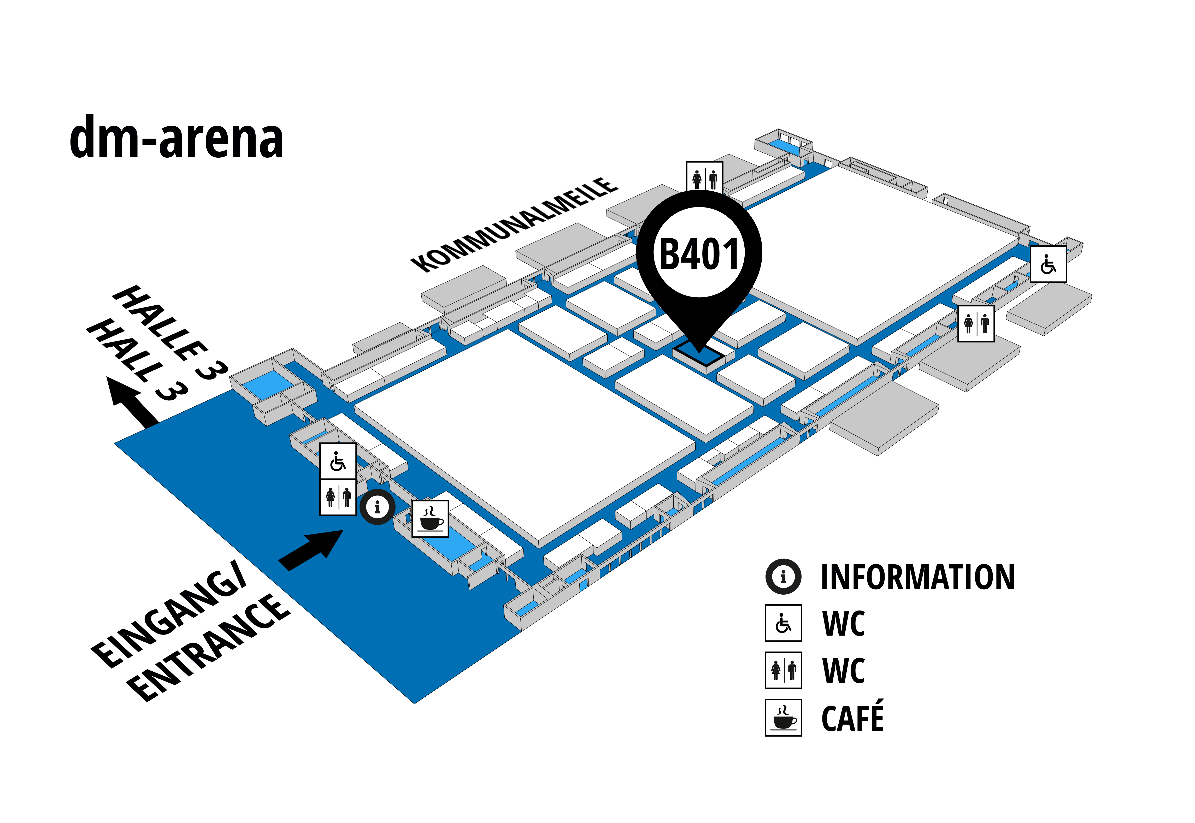 NUFAM 2019 - Trade fair for commercial vehicles hall map (dm-arena): stand B 401