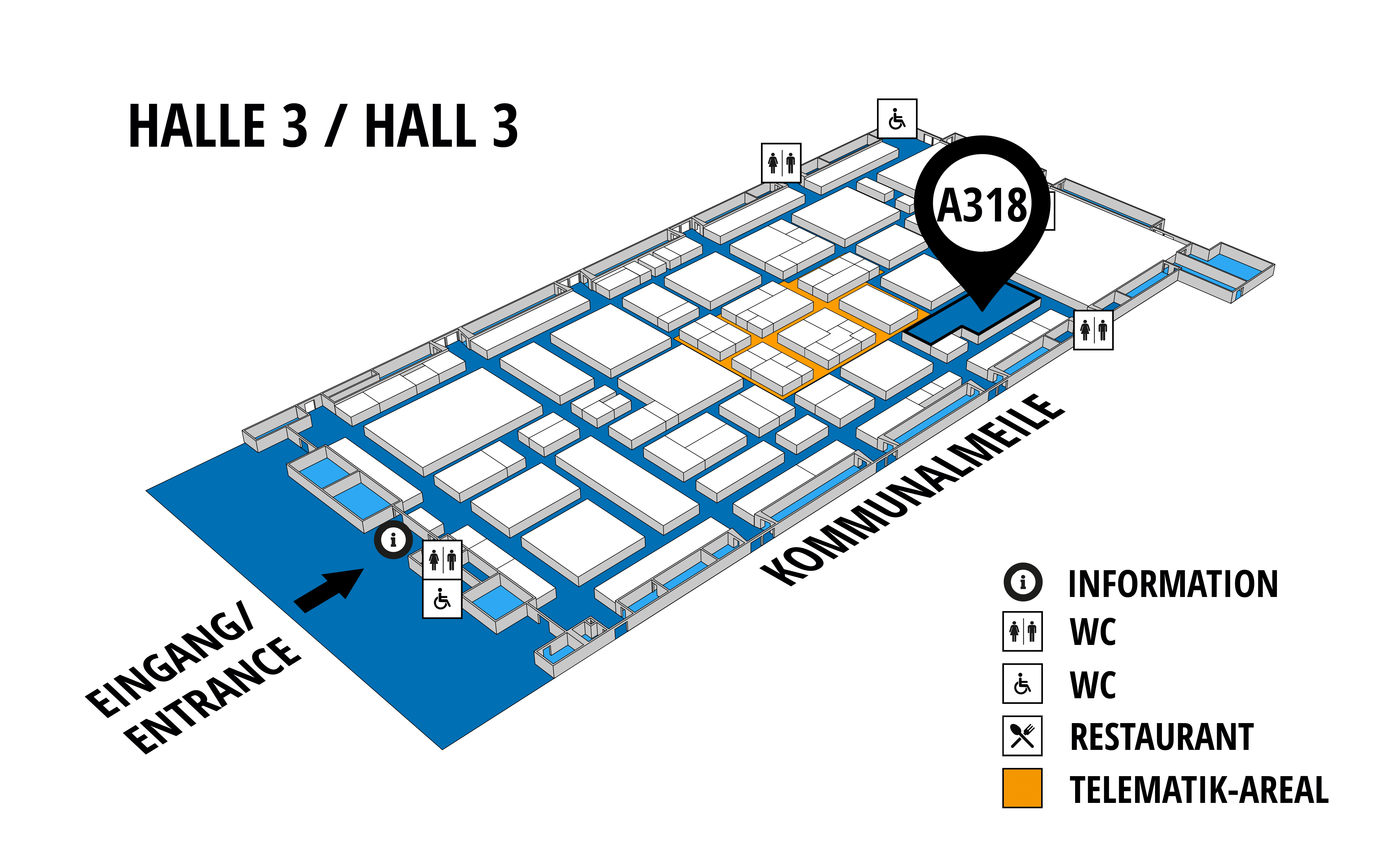 NUFAM 2019 - Trade fair for commercial vehicles hall map (Hall 3): stand A 318