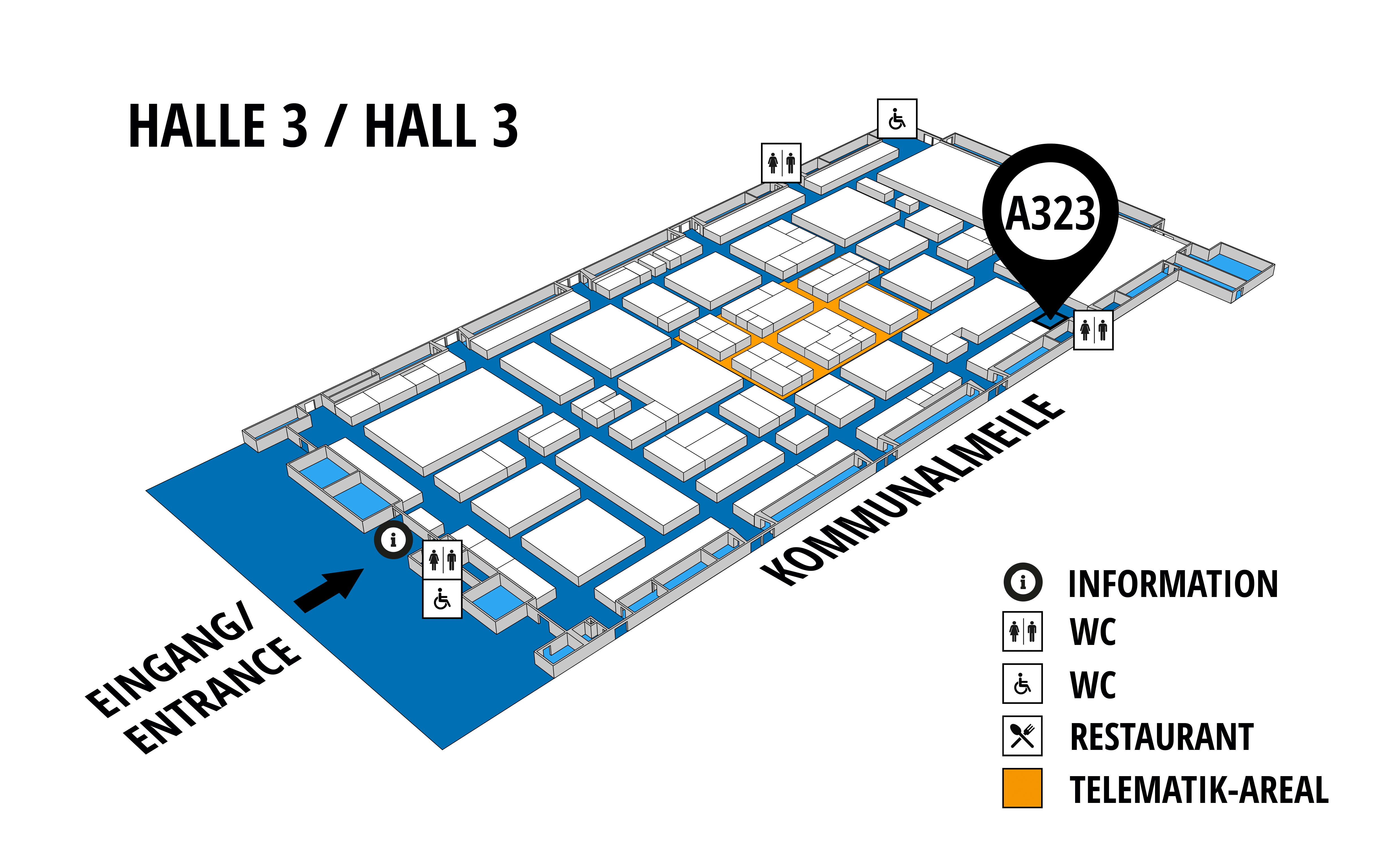 NUFAM 2019 - Trade fair for commercial vehicles hall map (Hall 3): stand A 323