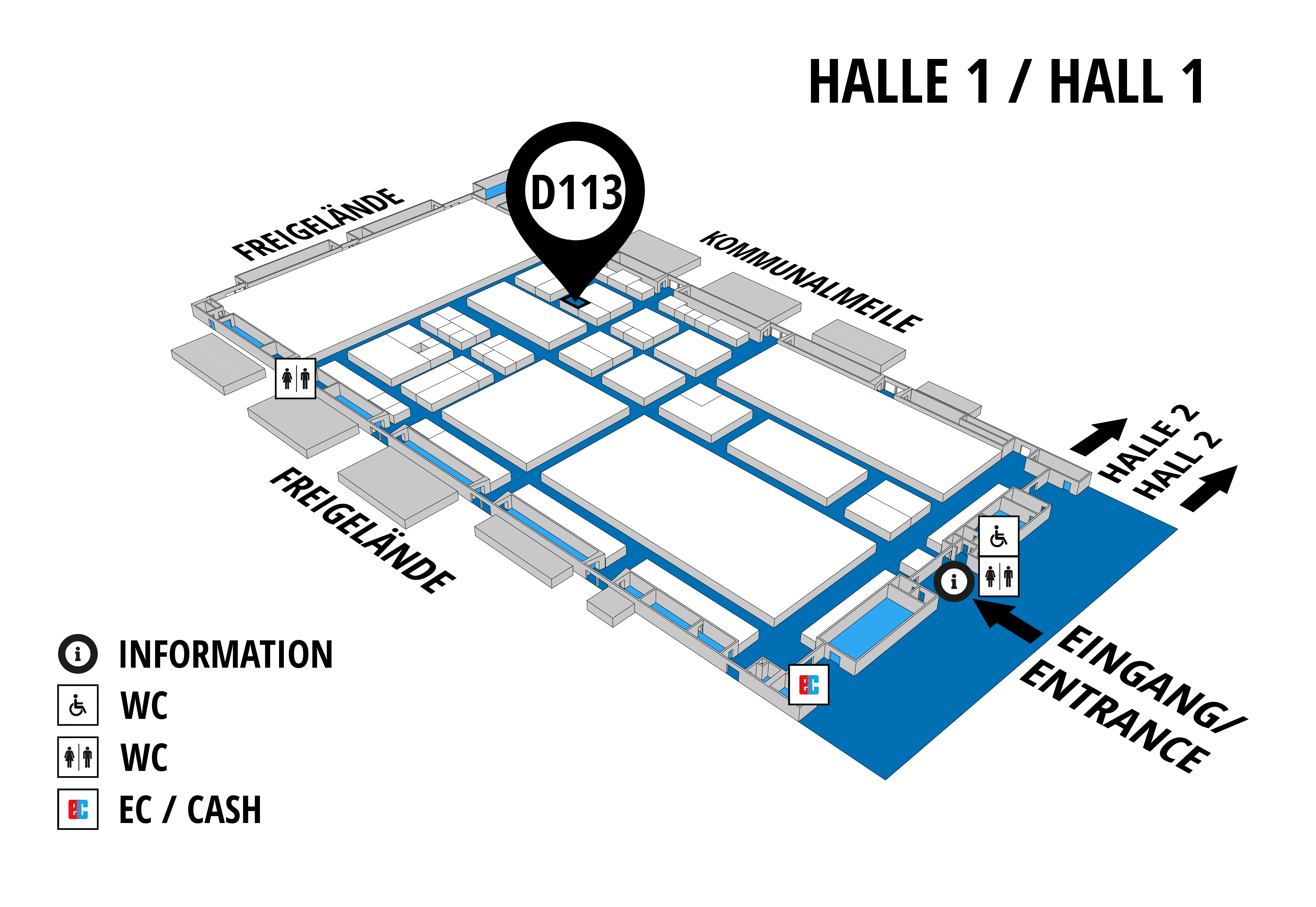 NUFAM 2019 - Trade fair for commercial vehicles hall map (Hall 1): stand D 113