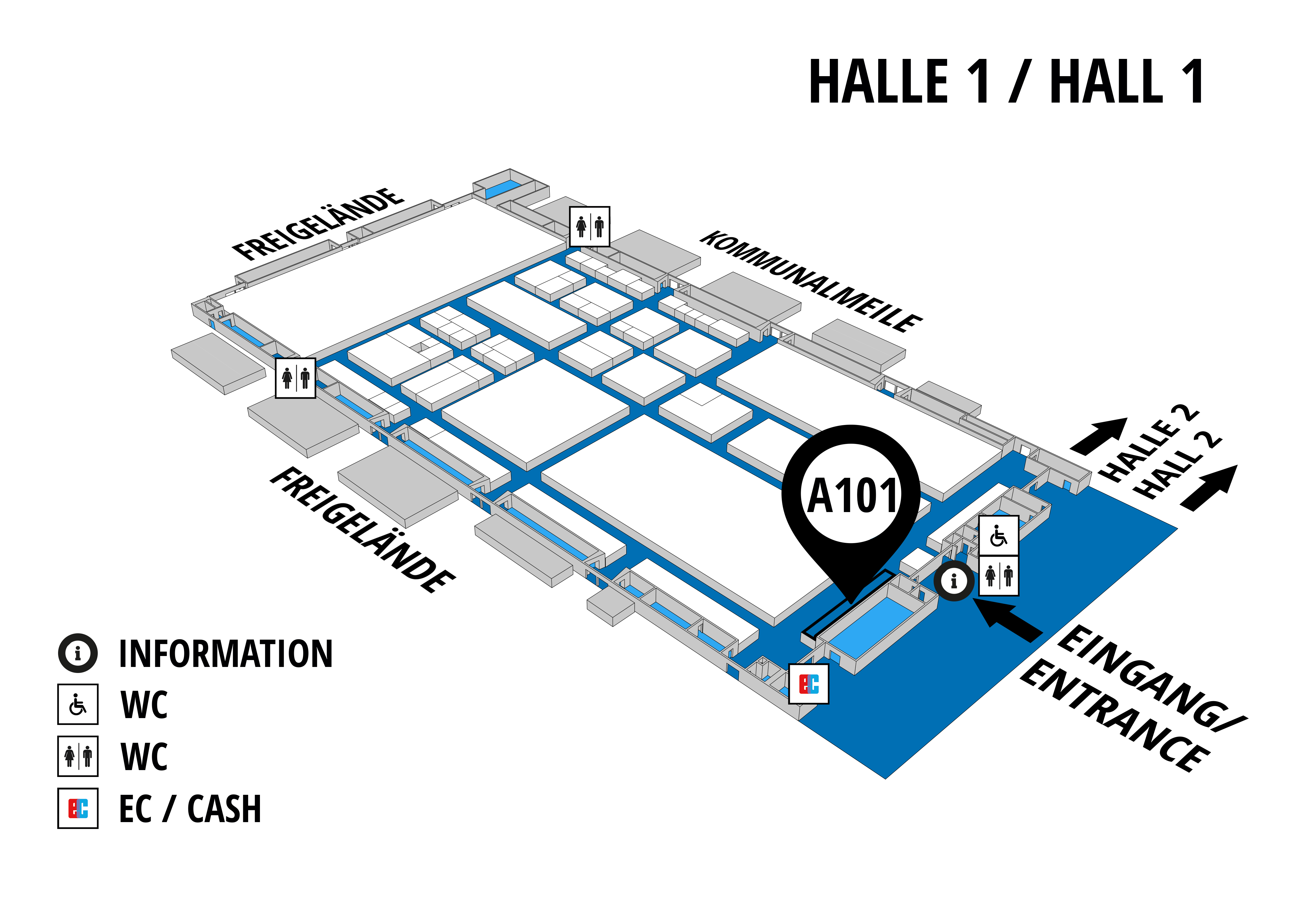NUFAM 2019 - Trade fair for commercial vehicles hall map (Hall 1): stand A 101