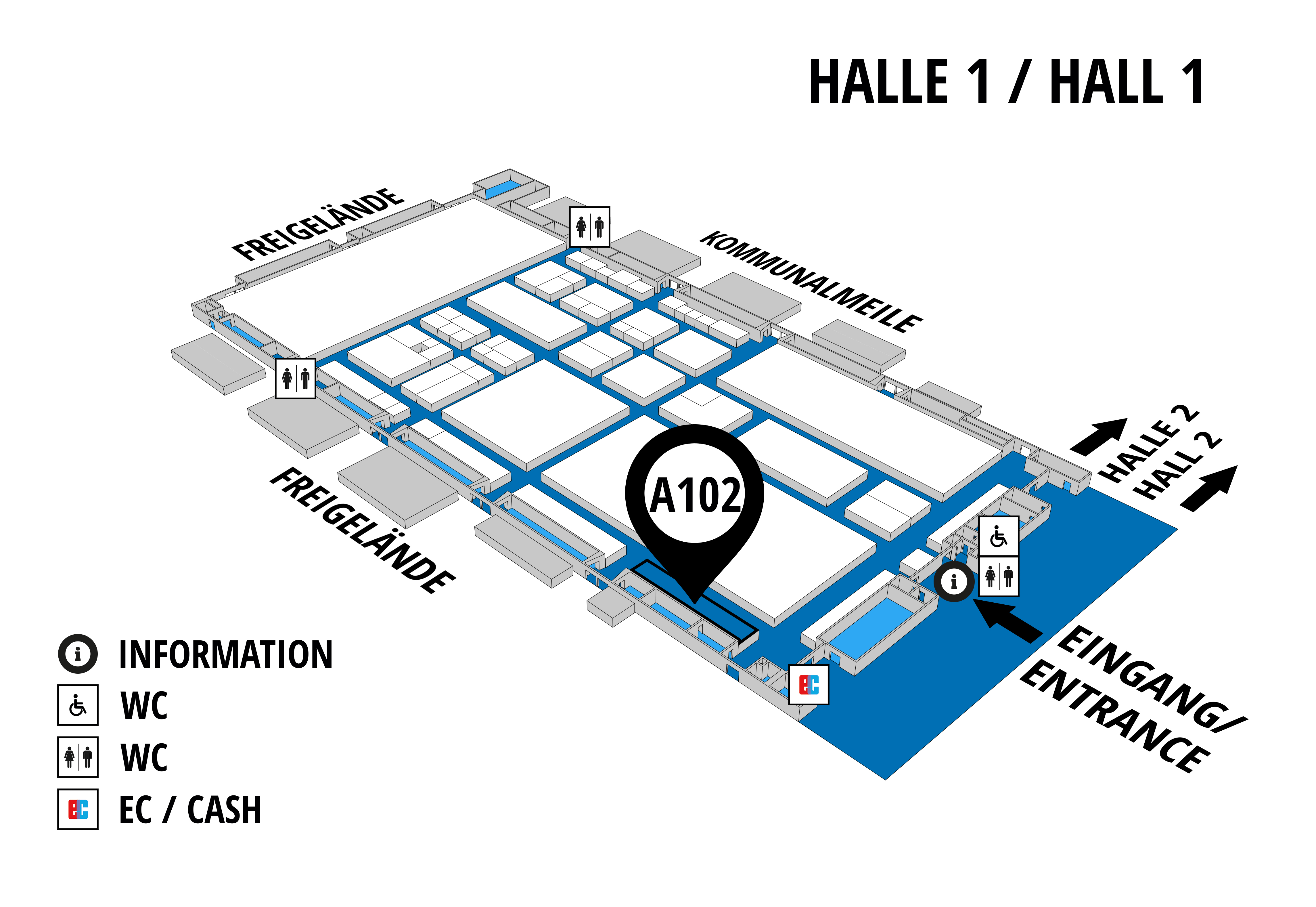 NUFAM 2019 - Trade fair for commercial vehicles hall map (Hall 1): stand A 102
