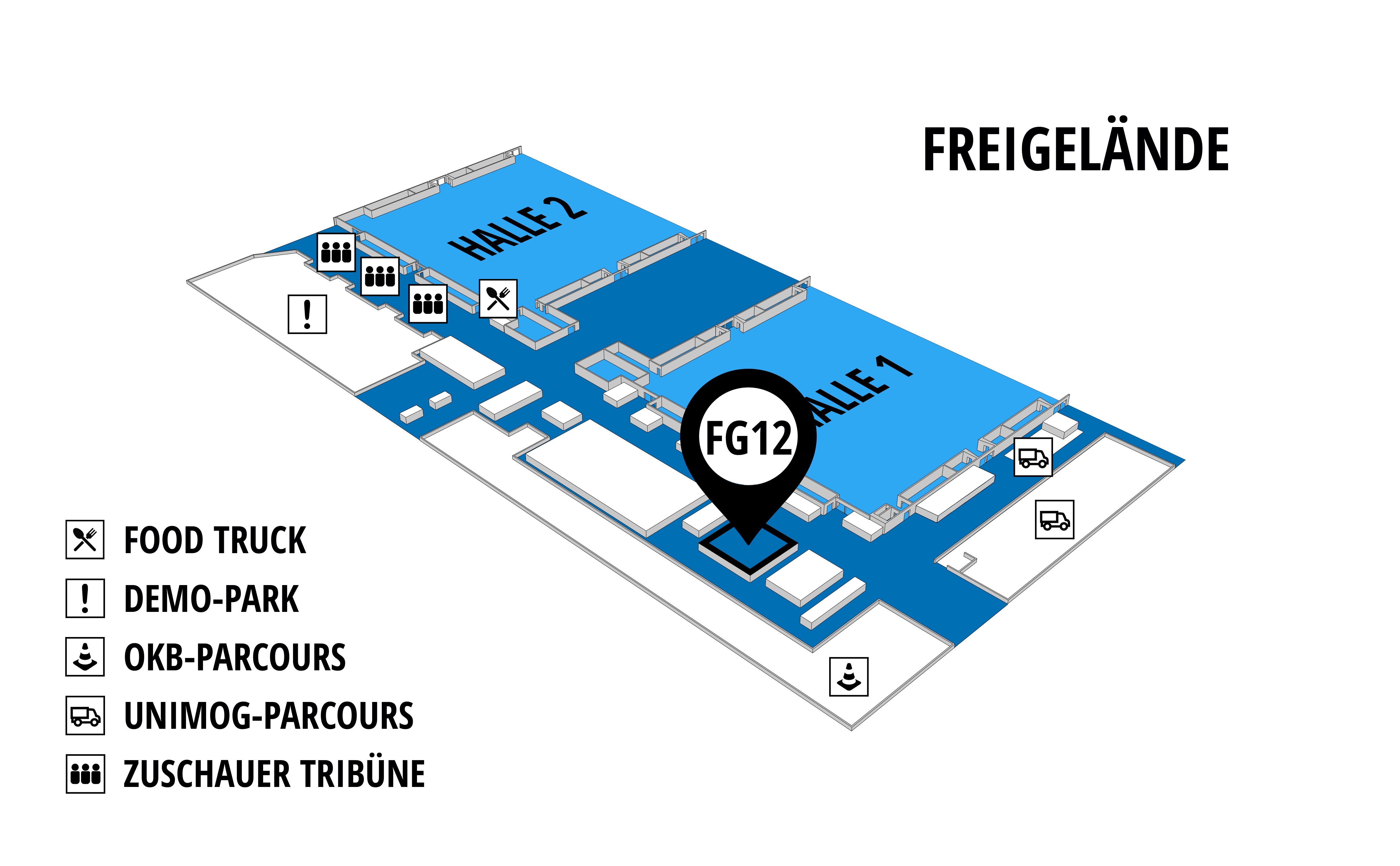 NUFAM 2019 - Trade fair for commercial vehicles hall map (exhibition ground): stand FG 12