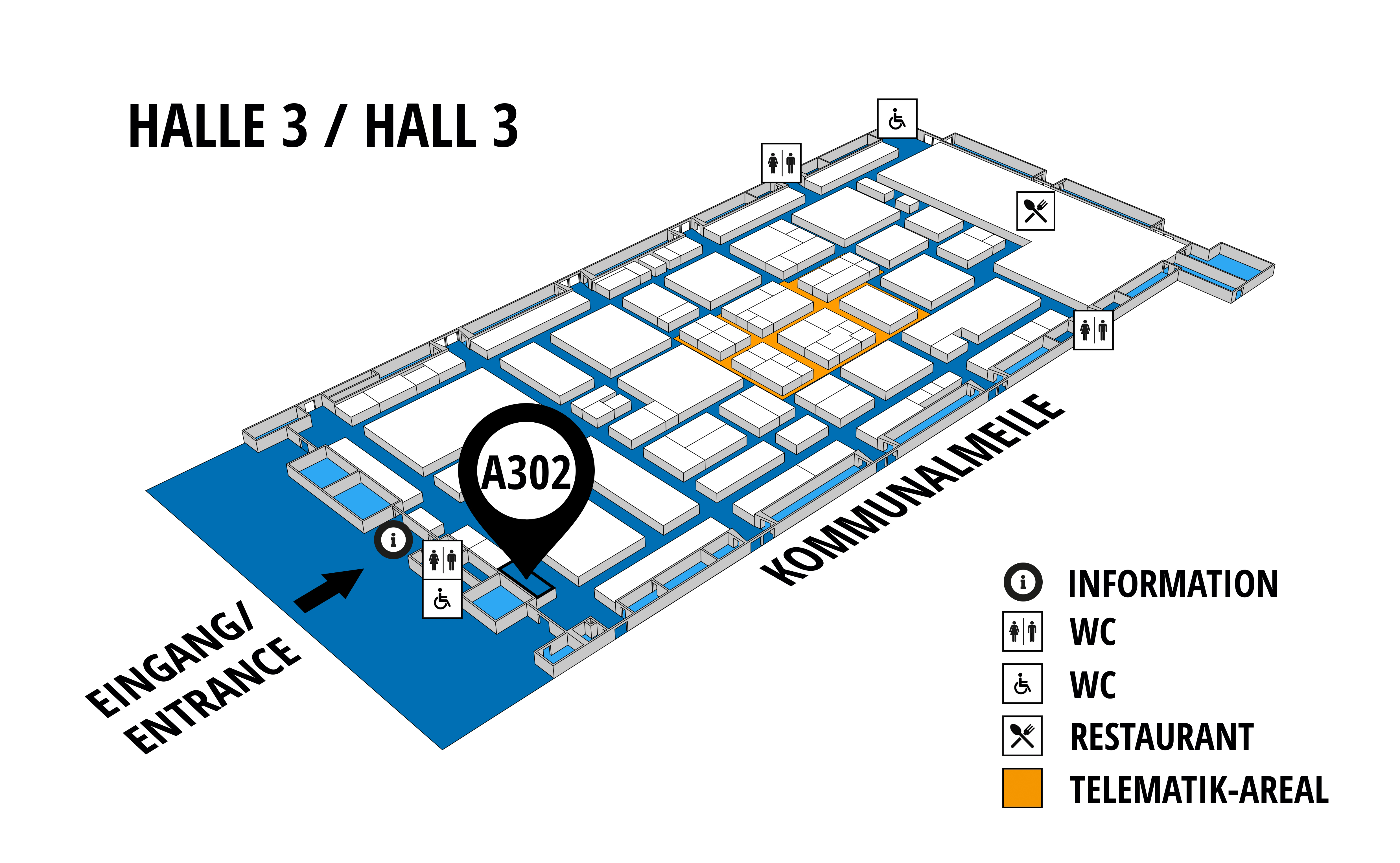 NUFAM 2019 - Trade fair for commercial vehicles hall map (Hall 3): stand A 302