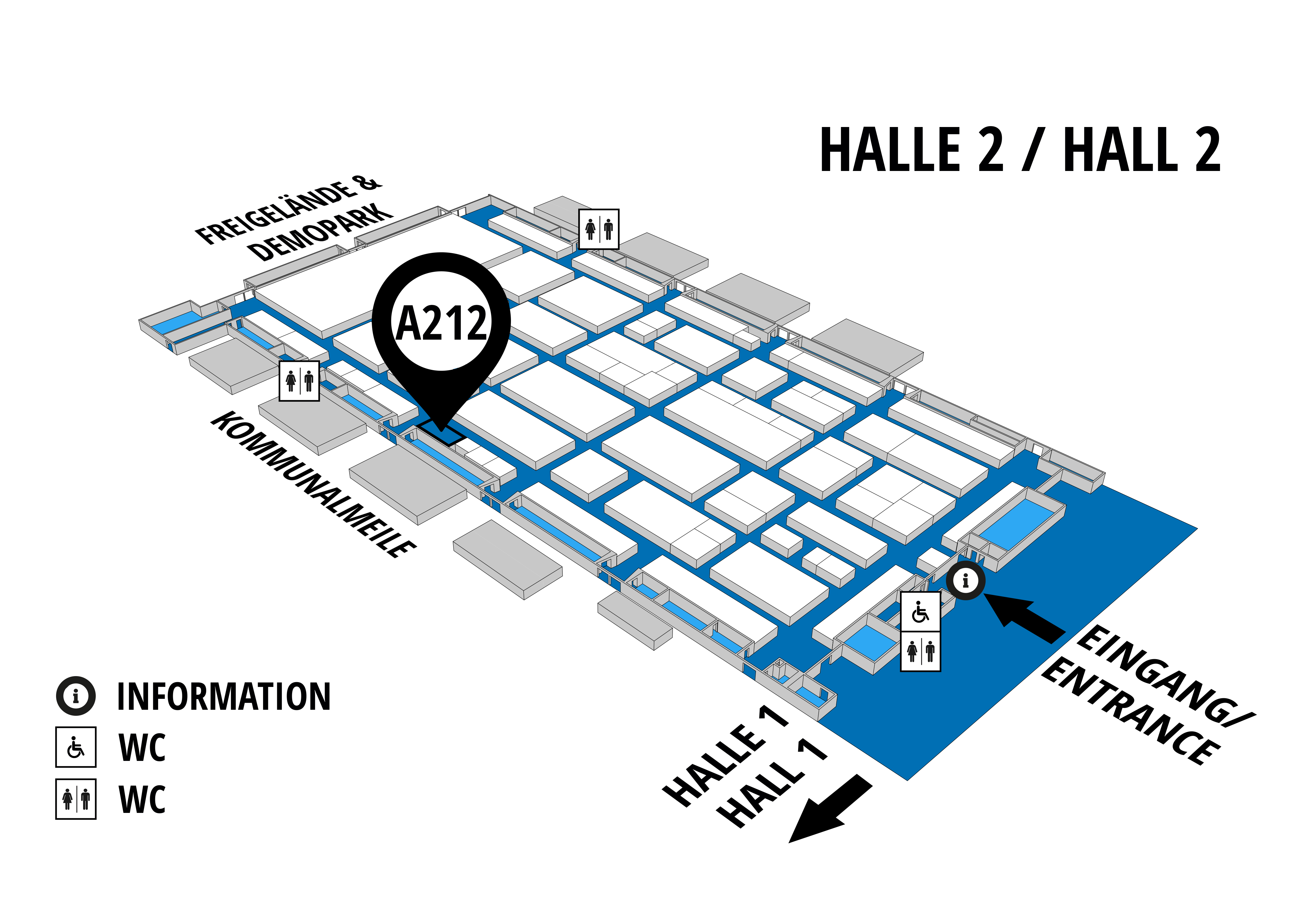 NUFAM 2019 - Trade fair for commercial vehicles hall map (Hall 2): stand A 212
