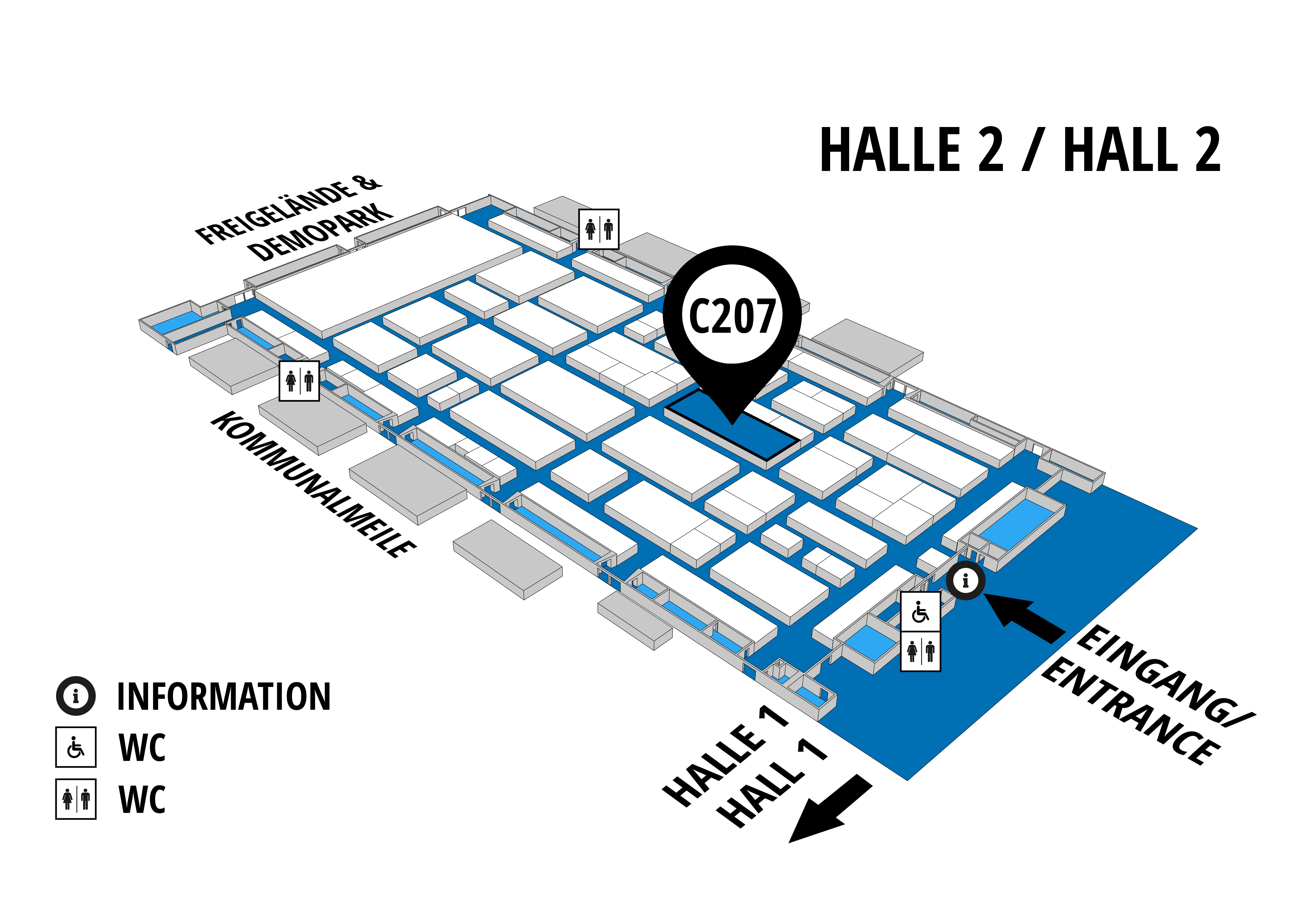 NUFAM 2019 - Trade fair for commercial vehicles hall map (Hall 2): stand C 207