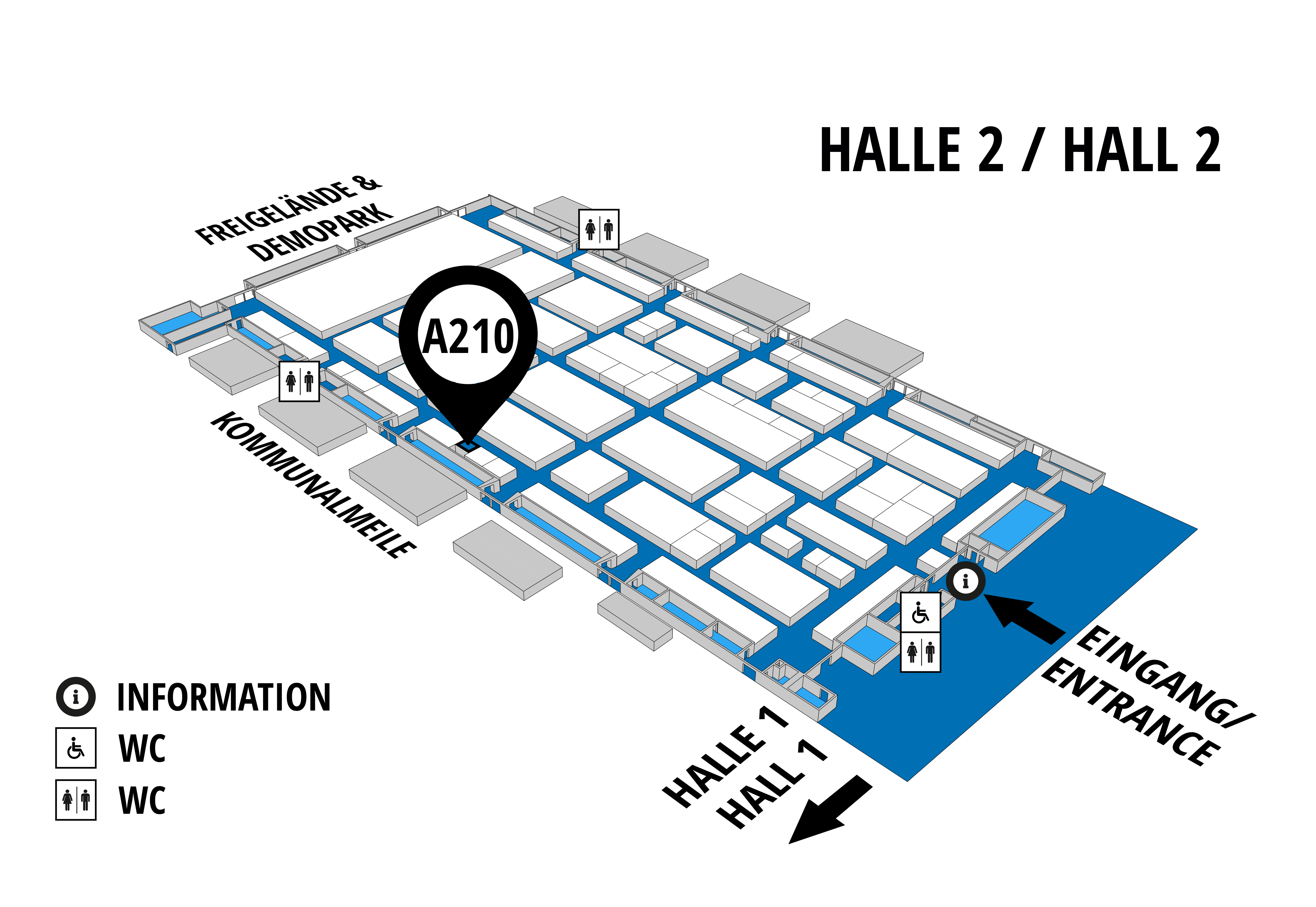 NUFAM 2019 - Trade fair for commercial vehicles hall map (Hall 2): stand A 210