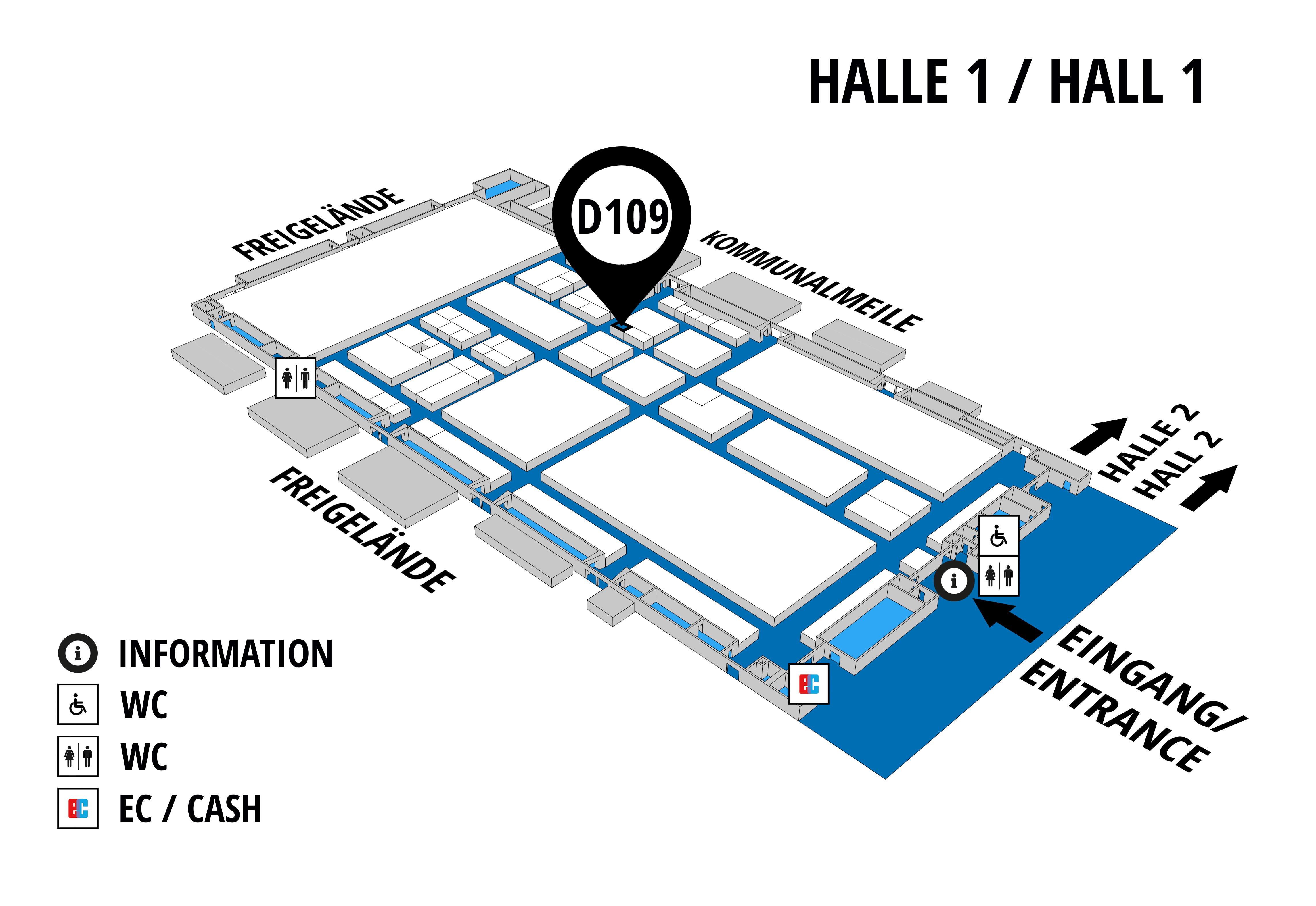 NUFAM 2019 - Trade fair for commercial vehicles hall map (Hall 1): stand D 109