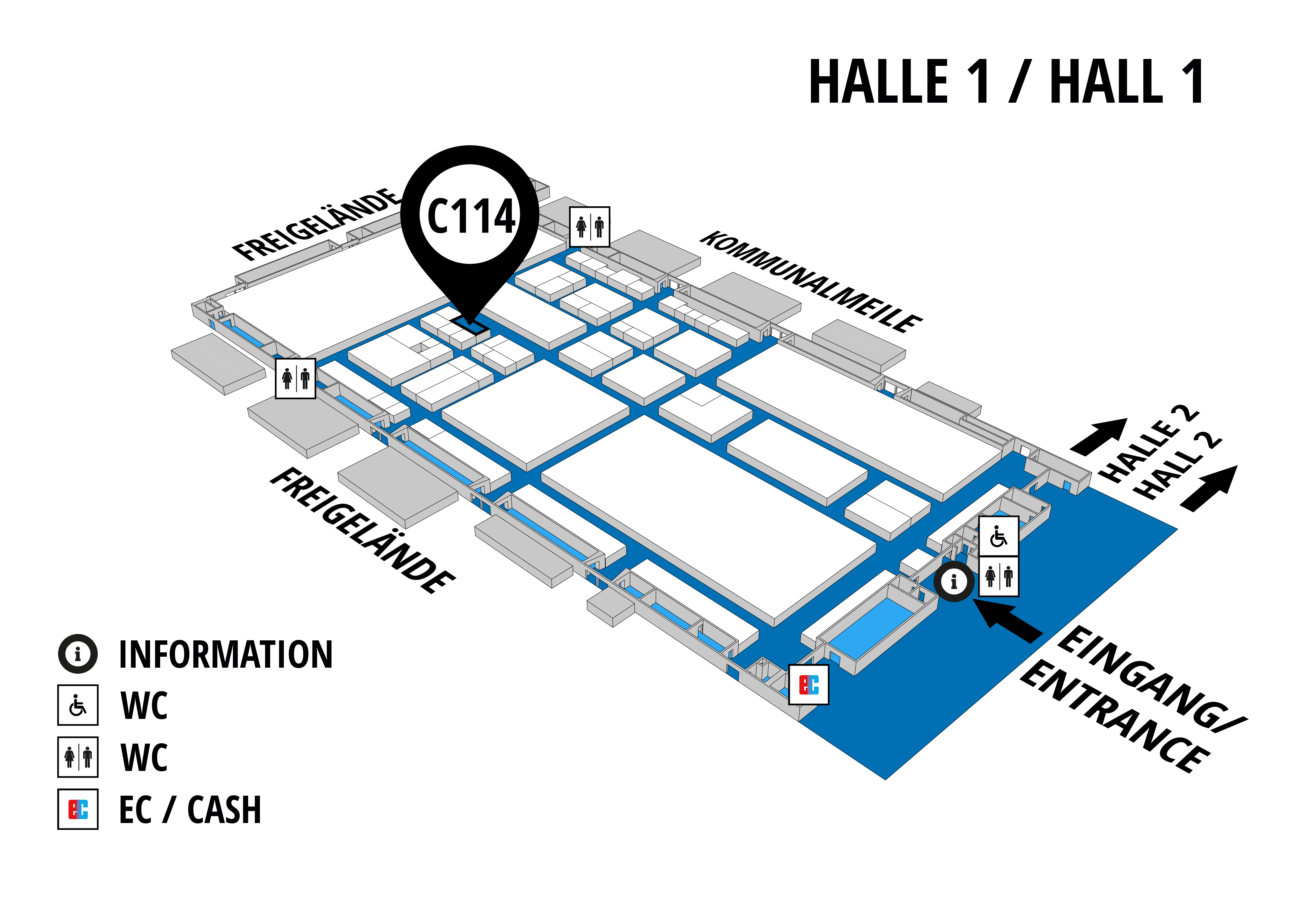 NUFAM 2019 - Trade fair for commercial vehicles hall map (Hall 1): stand C 114