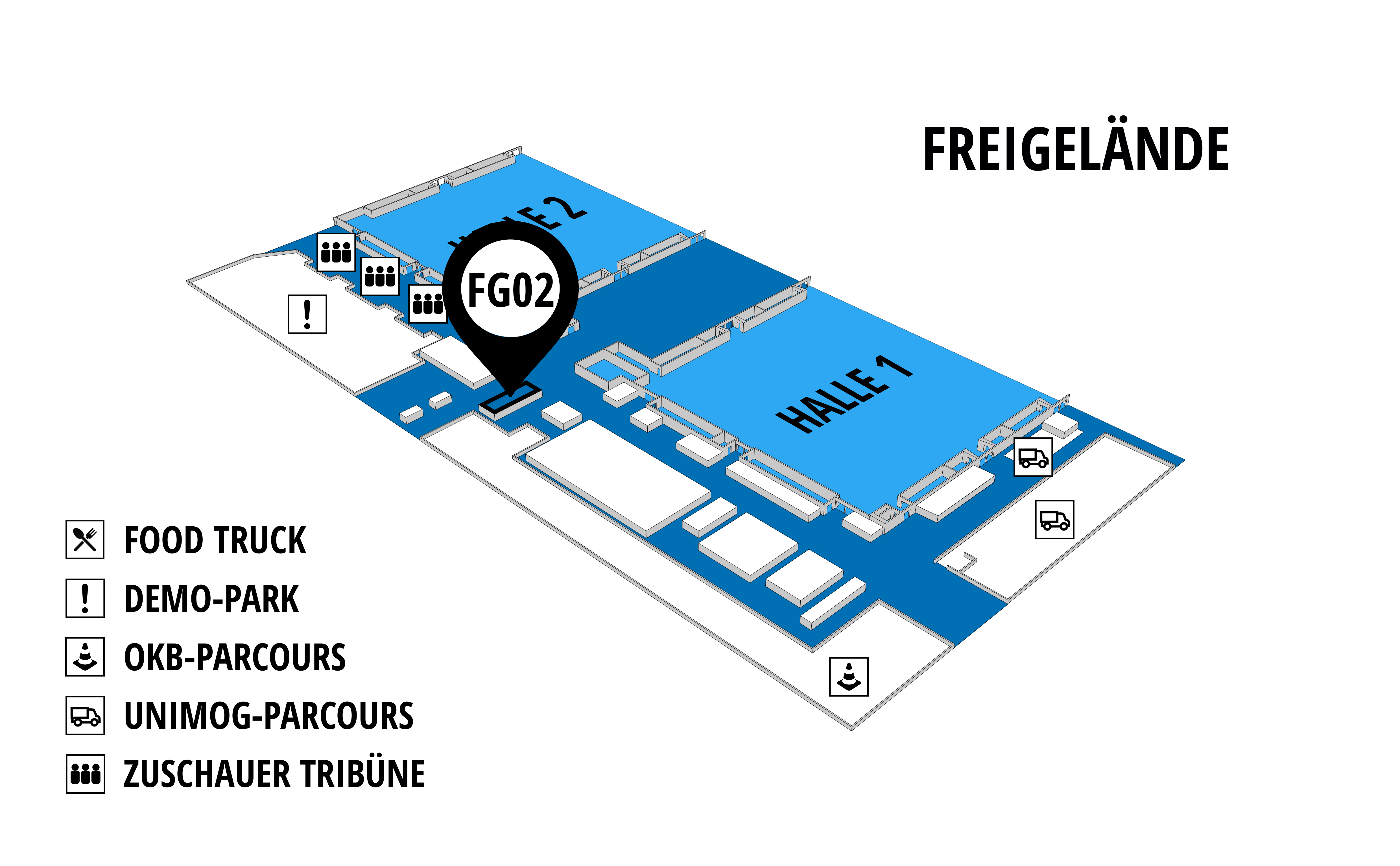 NUFAM 2019 - Trade fair for commercial vehicles hall map (exhibition ground): stand FG 02