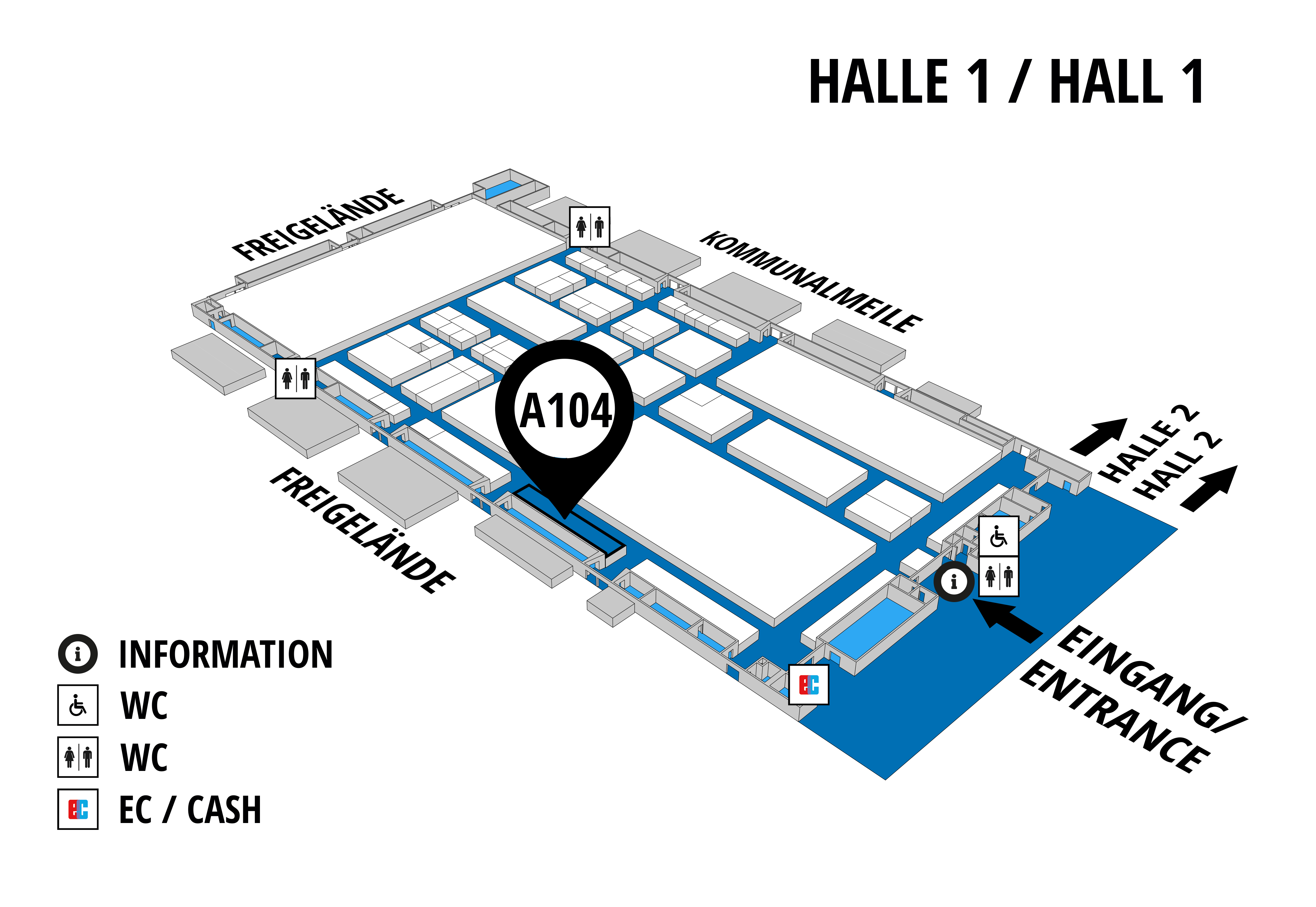 NUFAM 2019 - Trade fair for commercial vehicles hall map (Hall 1): stand A 104