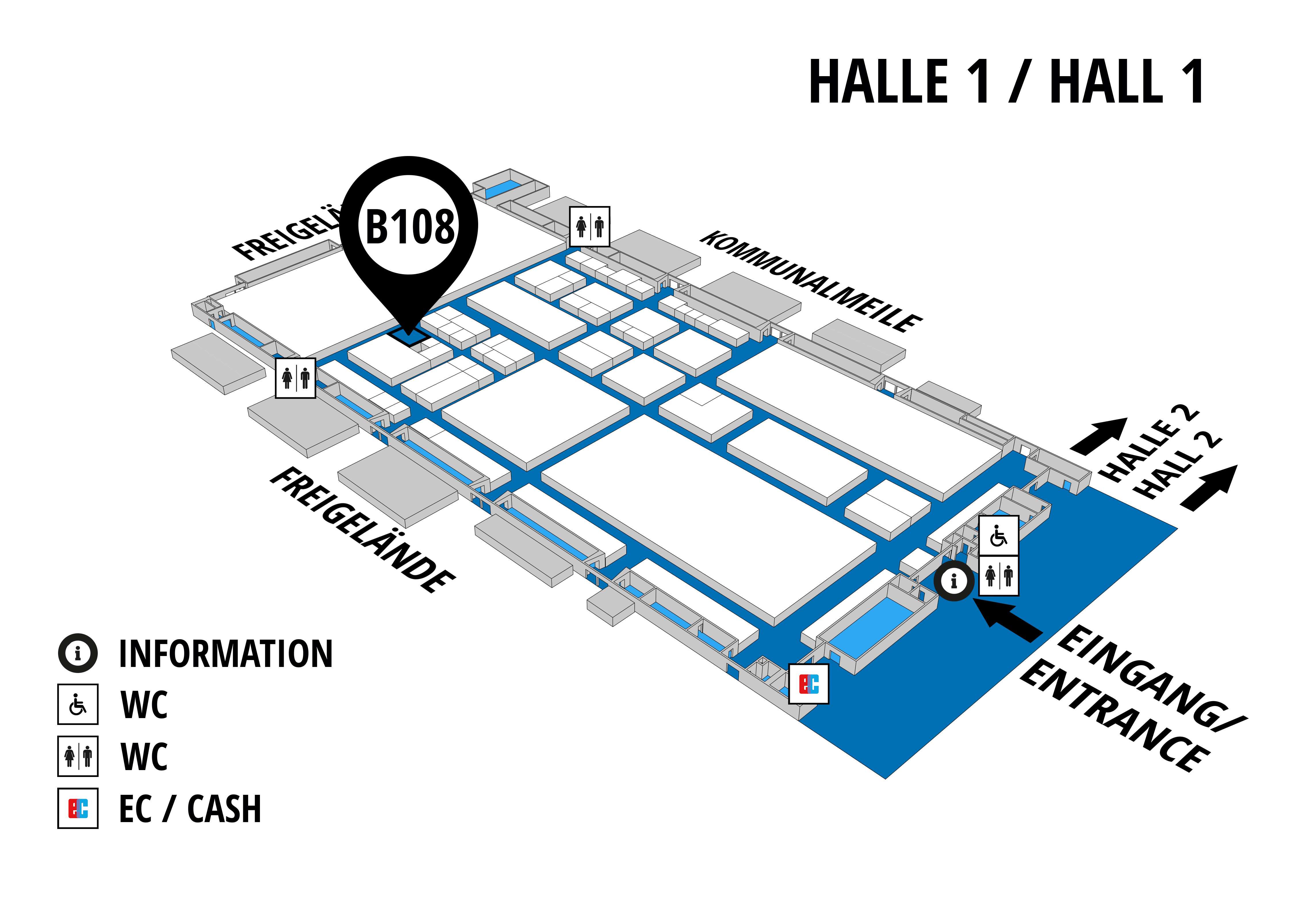 NUFAM 2019 - Trade fair for commercial vehicles hall map (Hall 1): stand B 108