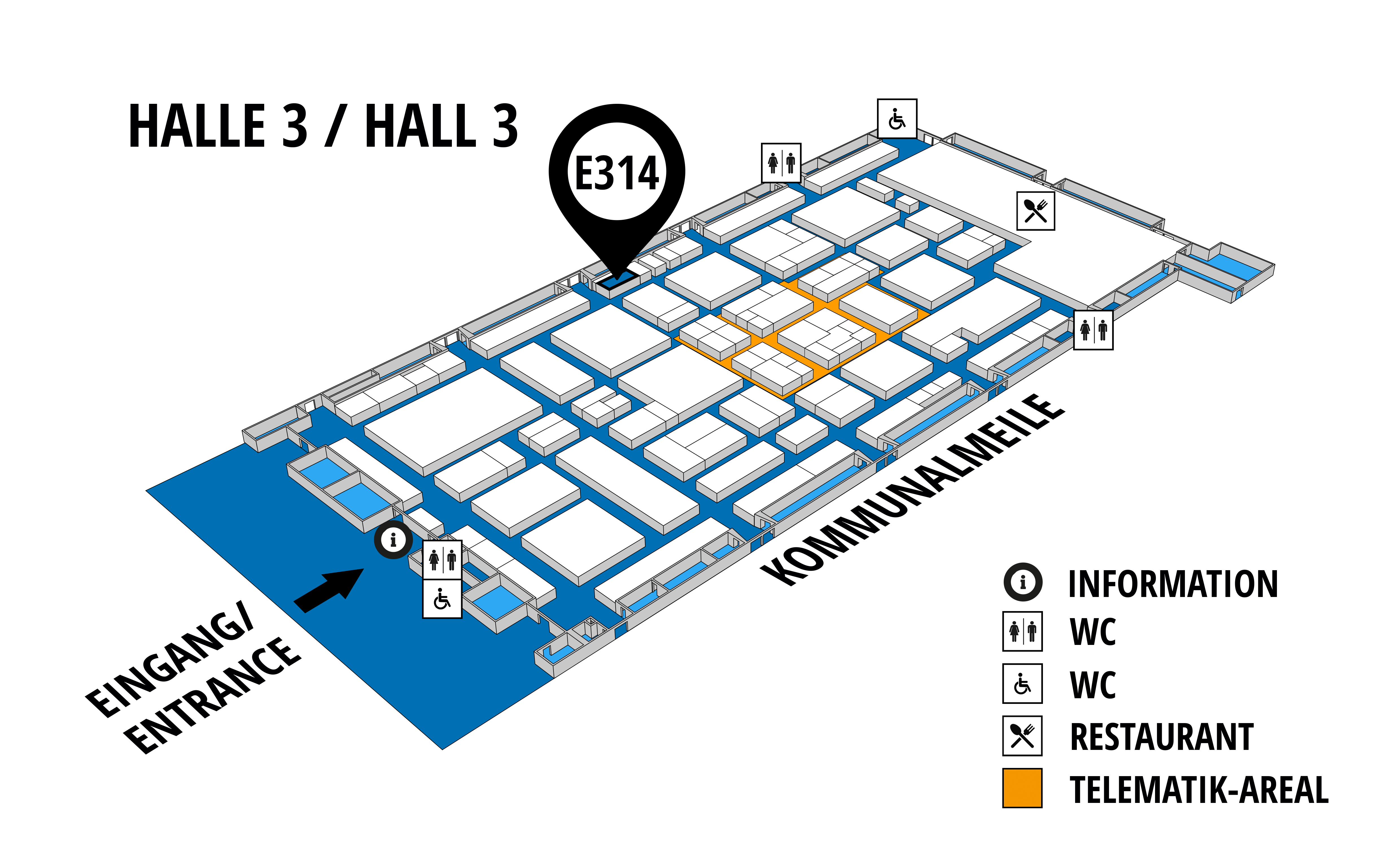NUFAM 2019 - Trade fair for commercial vehicles hall map (Hall 3): stand E 314