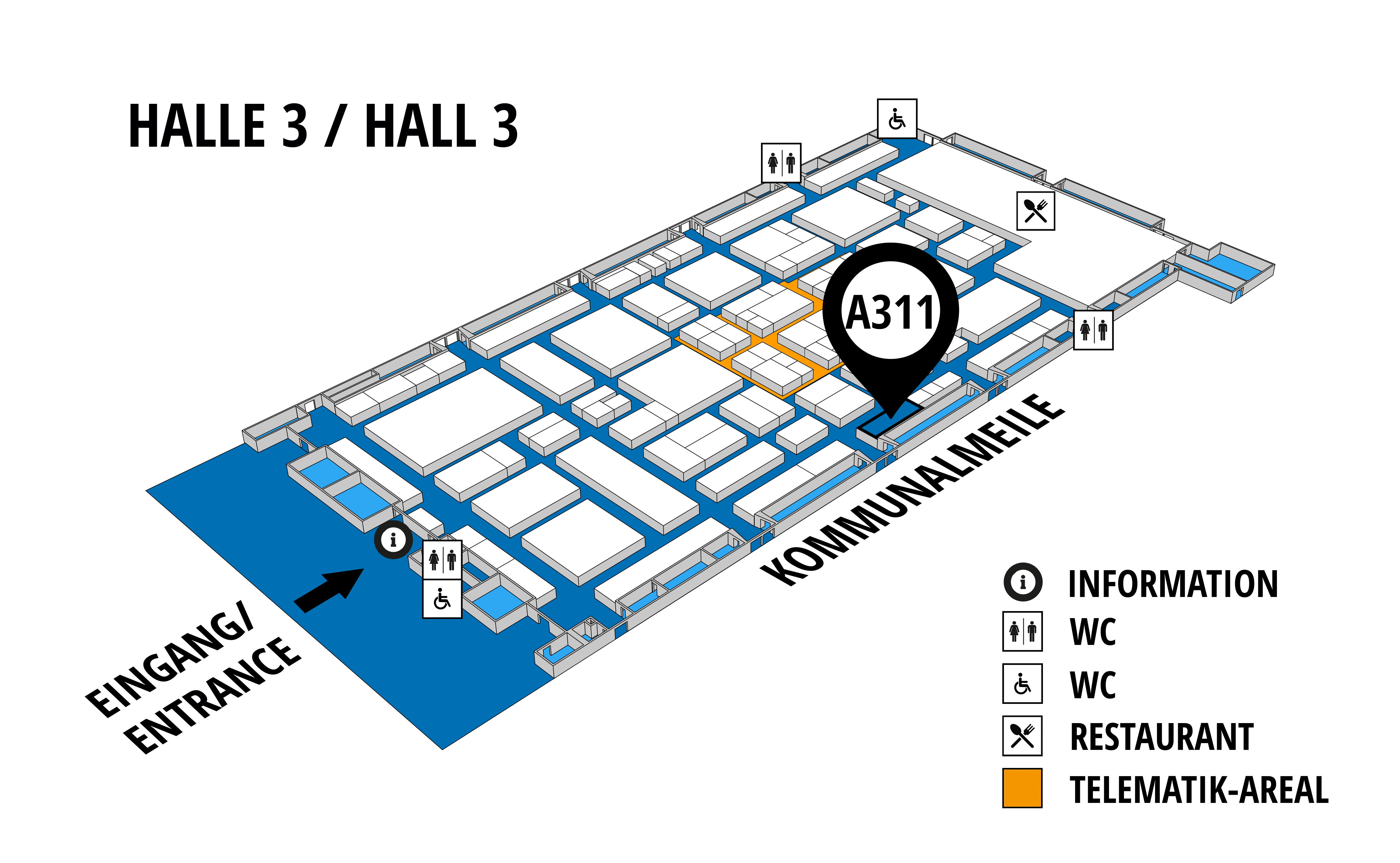 NUFAM 2019 - Trade fair for commercial vehicles hall map (Hall 3): stand A 311