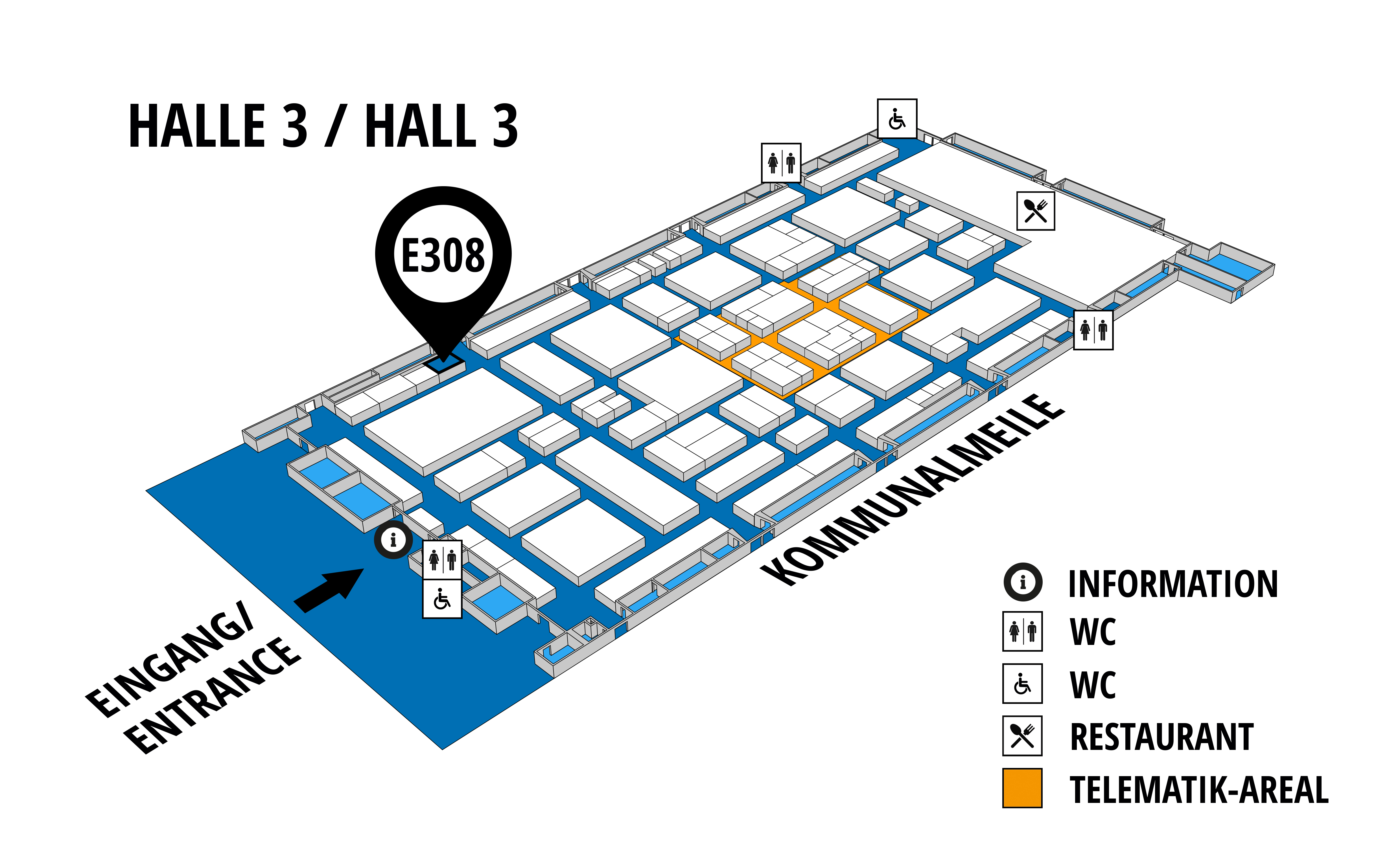 NUFAM 2019 - Trade fair for commercial vehicles hall map (Hall 3): stand E 308