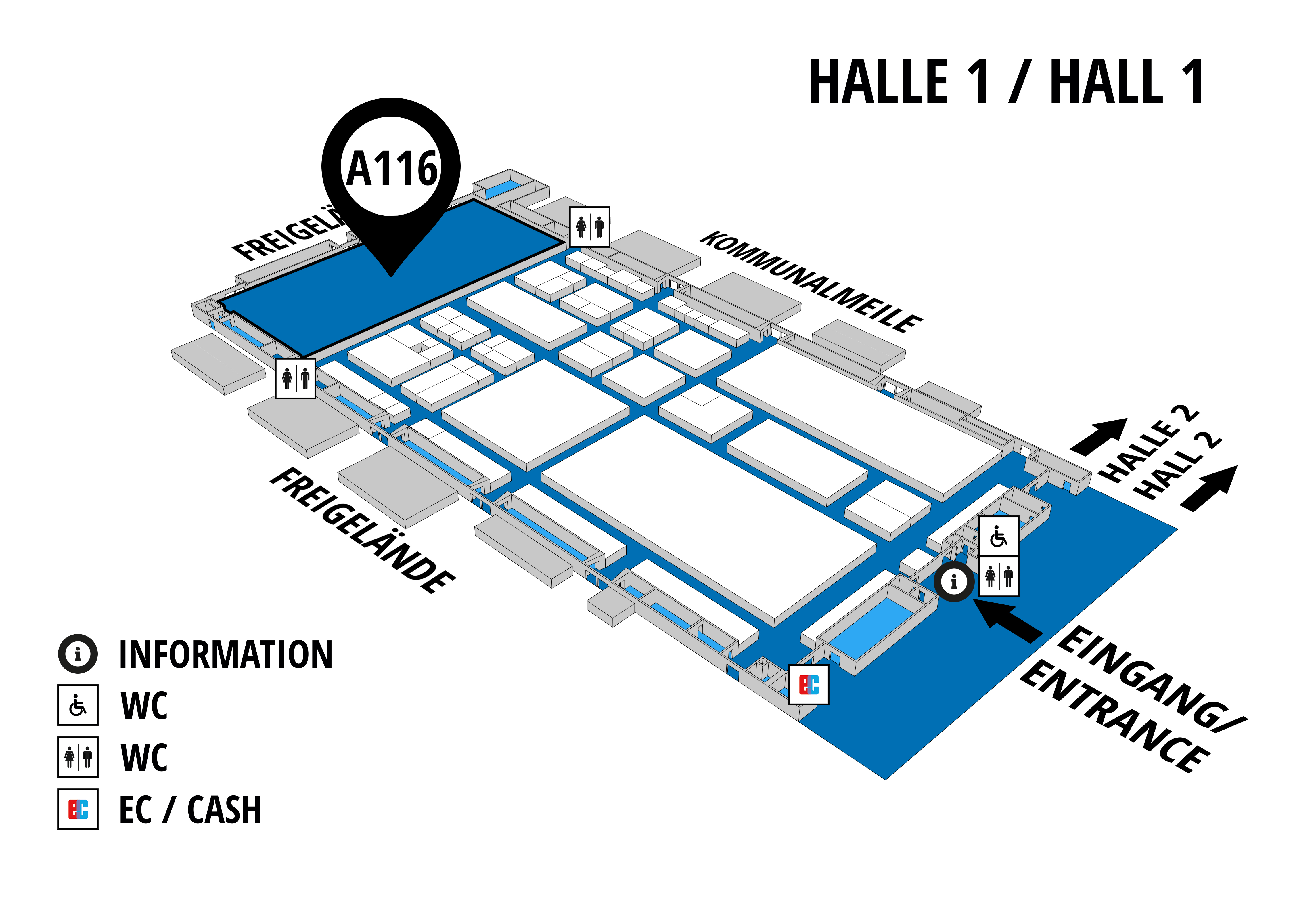 NUFAM 2019 - Trade fair for commercial vehicles hall map (Hall 1): stand A 116