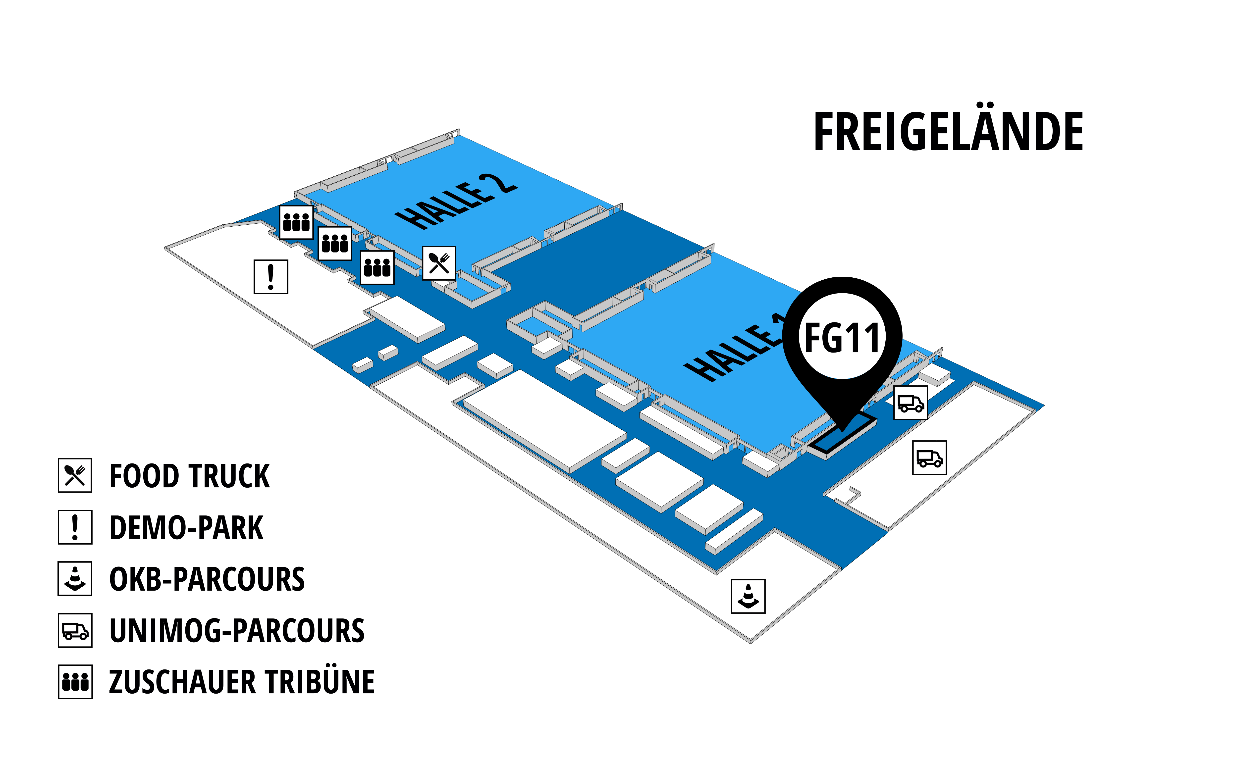 NUFAM 2019 - Trade fair for commercial vehicles hall map (exhibition ground): stand FG 11