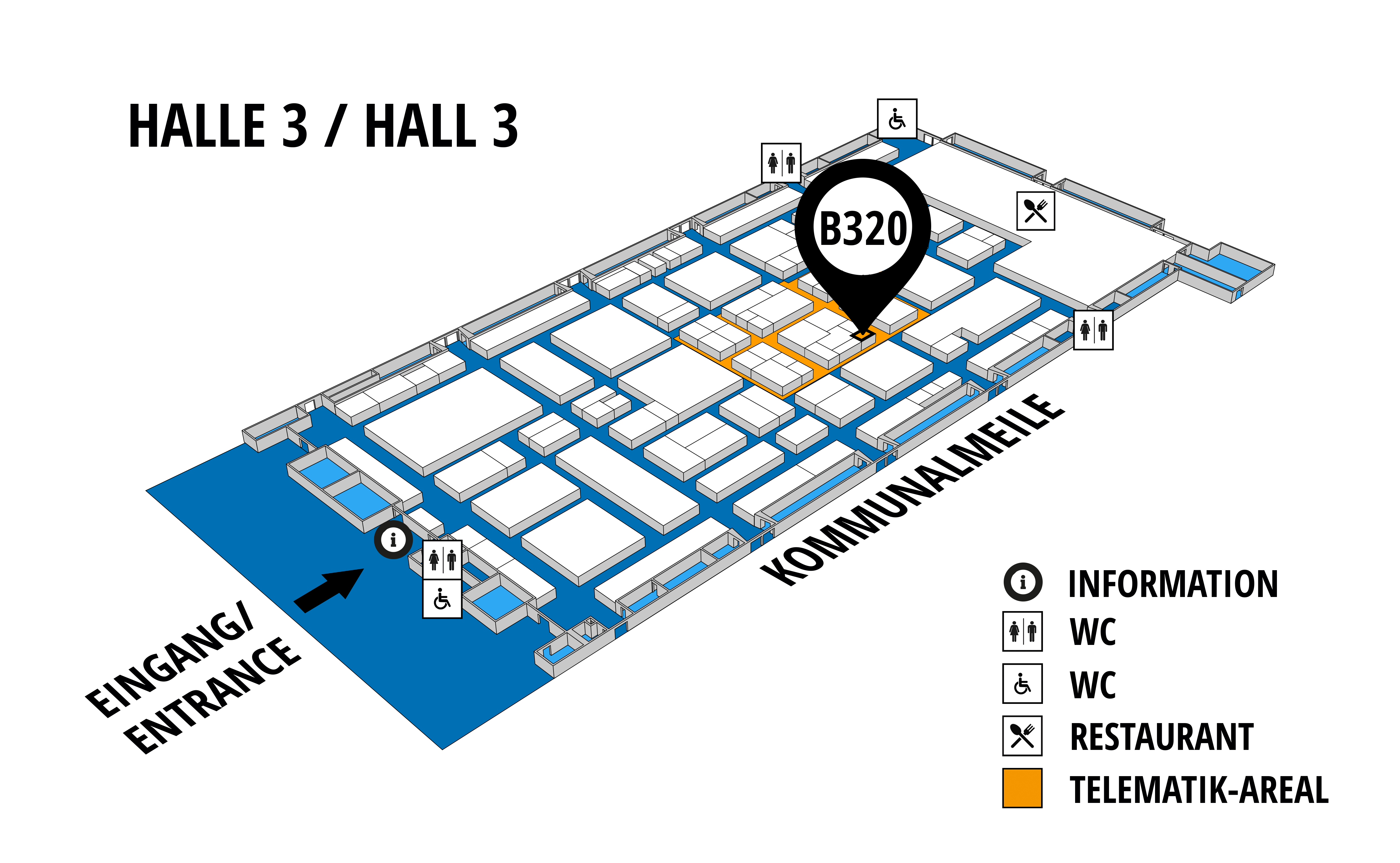 NUFAM 2019 - Trade fair for commercial vehicles hall map (Hall 3): stand B 320