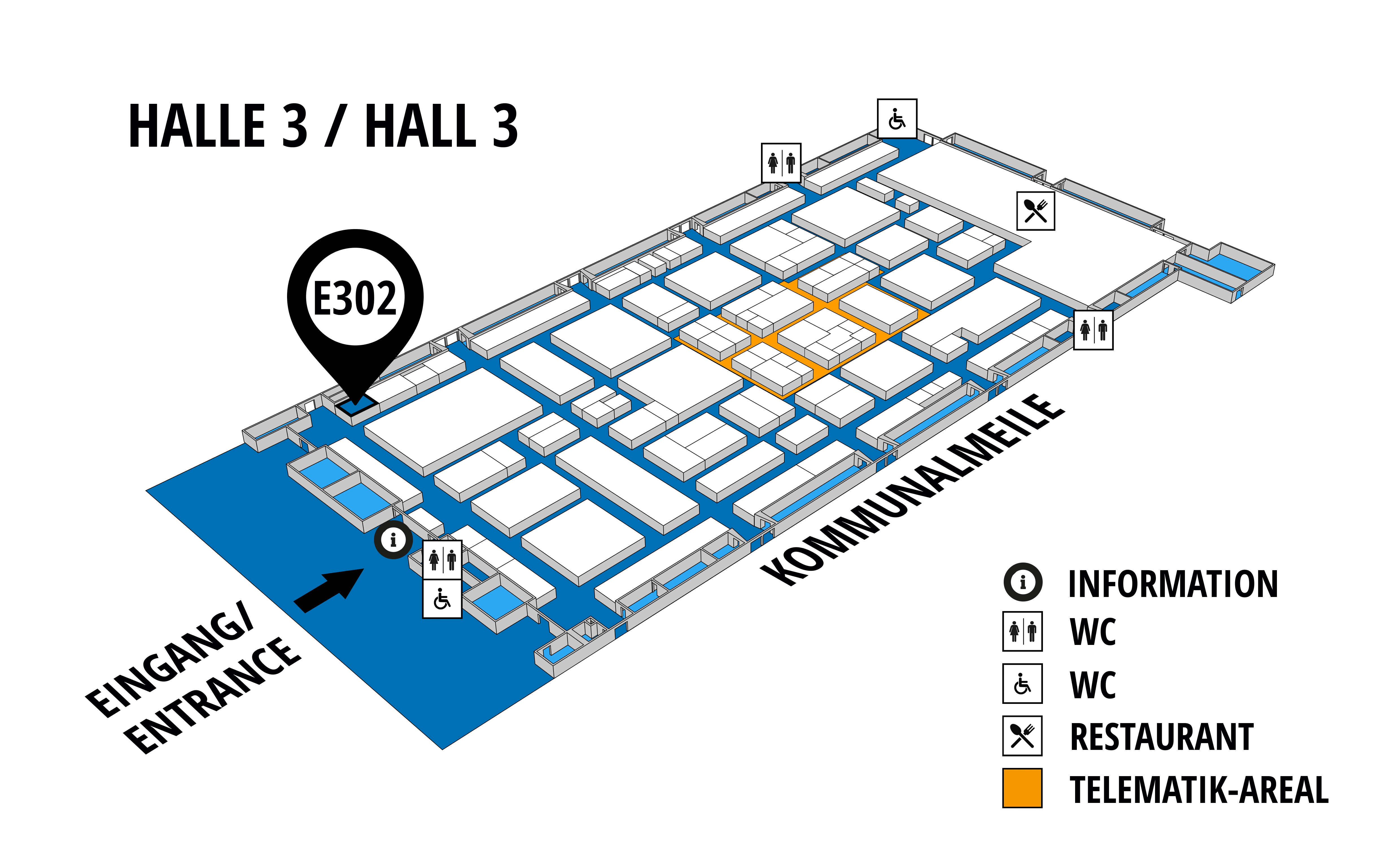 NUFAM 2019 - Trade fair for commercial vehicles hall map (Hall 3): stand E 302
