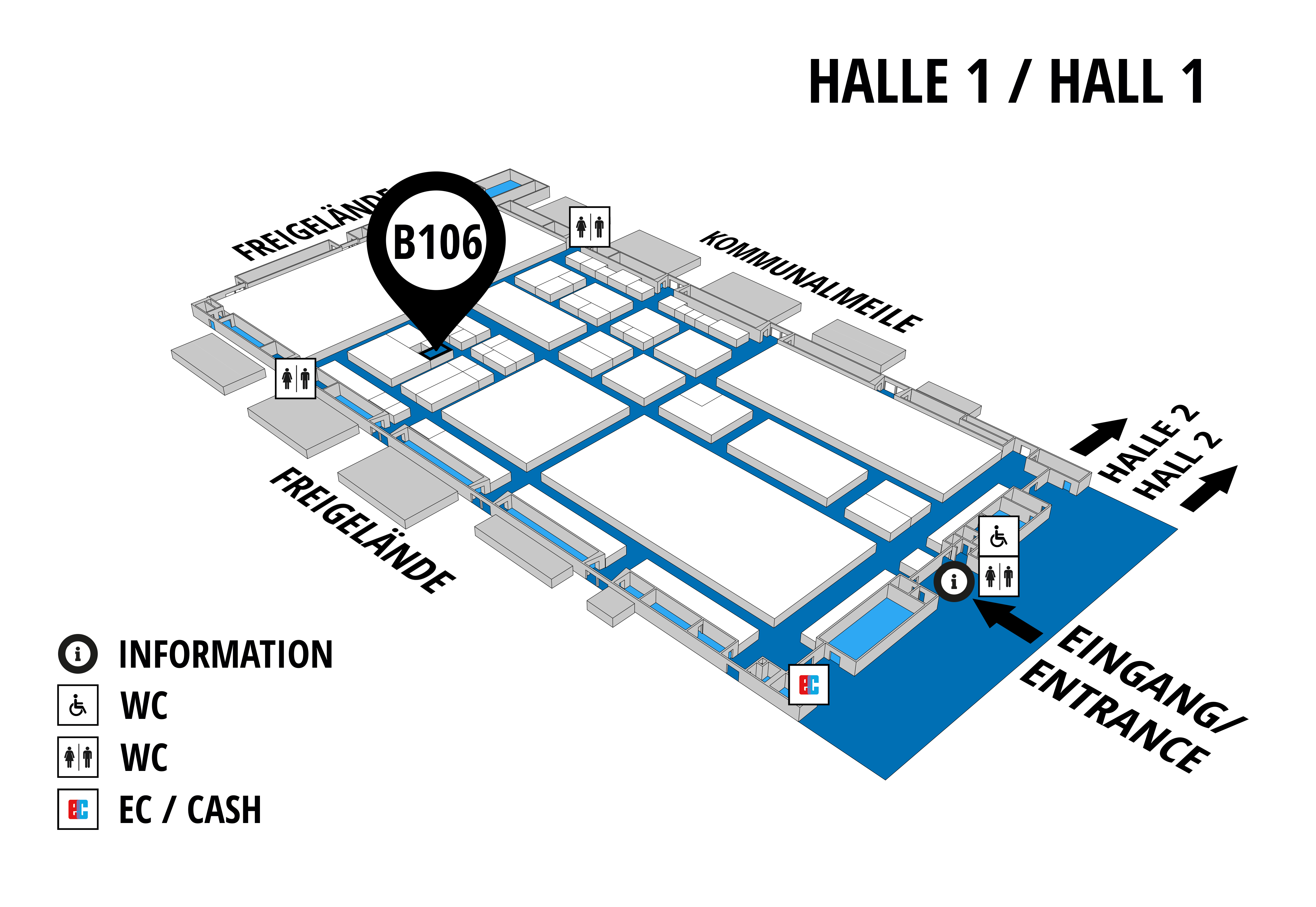 NUFAM 2019 - Trade fair for commercial vehicles hall map (Hall 1): stand B 106