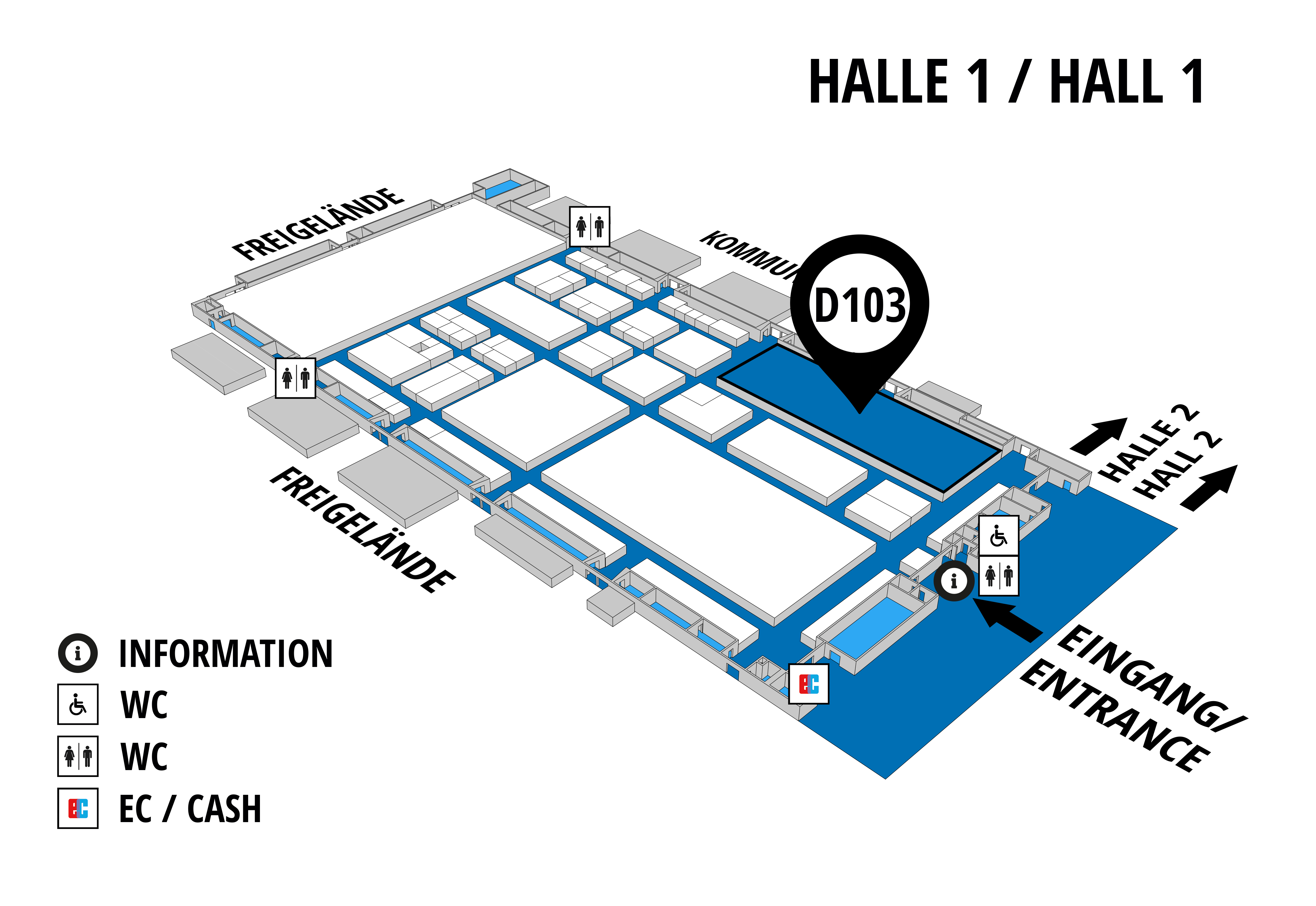 NUFAM 2019 - Trade fair for commercial vehicles hall map (Hall 1): stand D 103