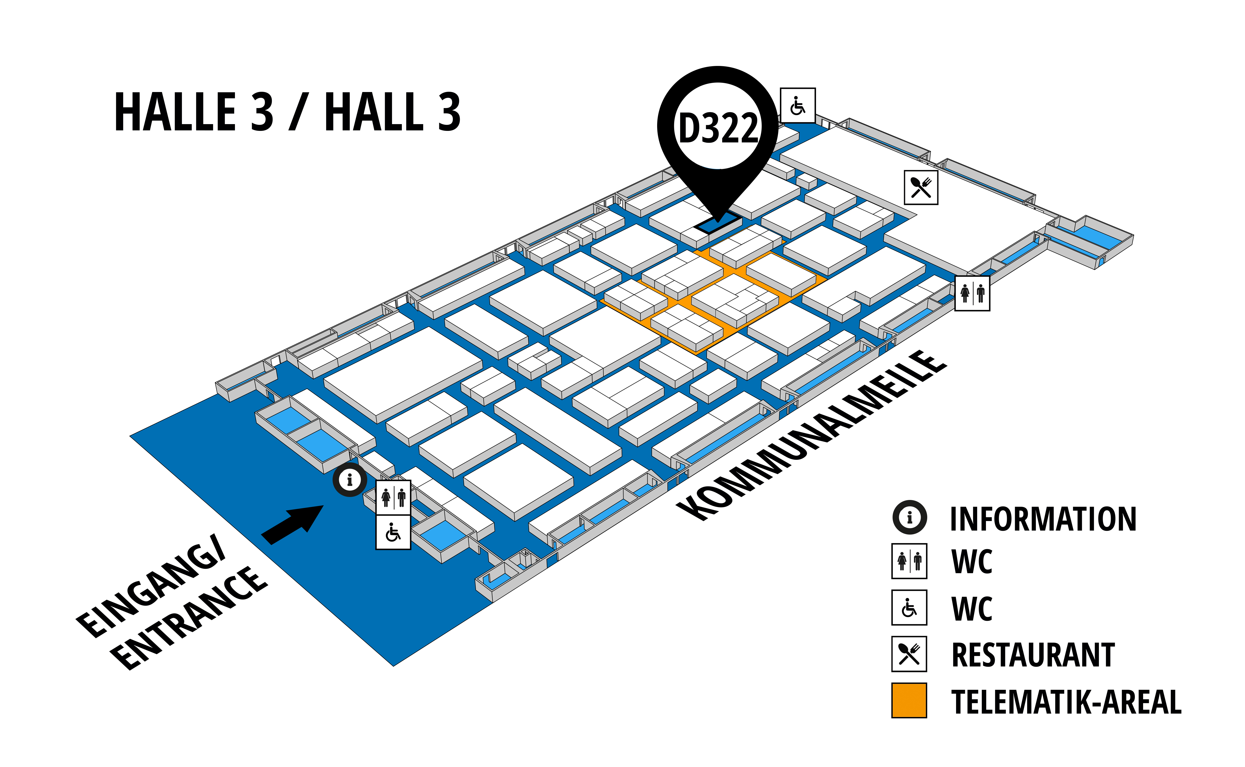 NUFAM 2019 - Trade fair for commercial vehicles hall map (Hall 3): stand D 322