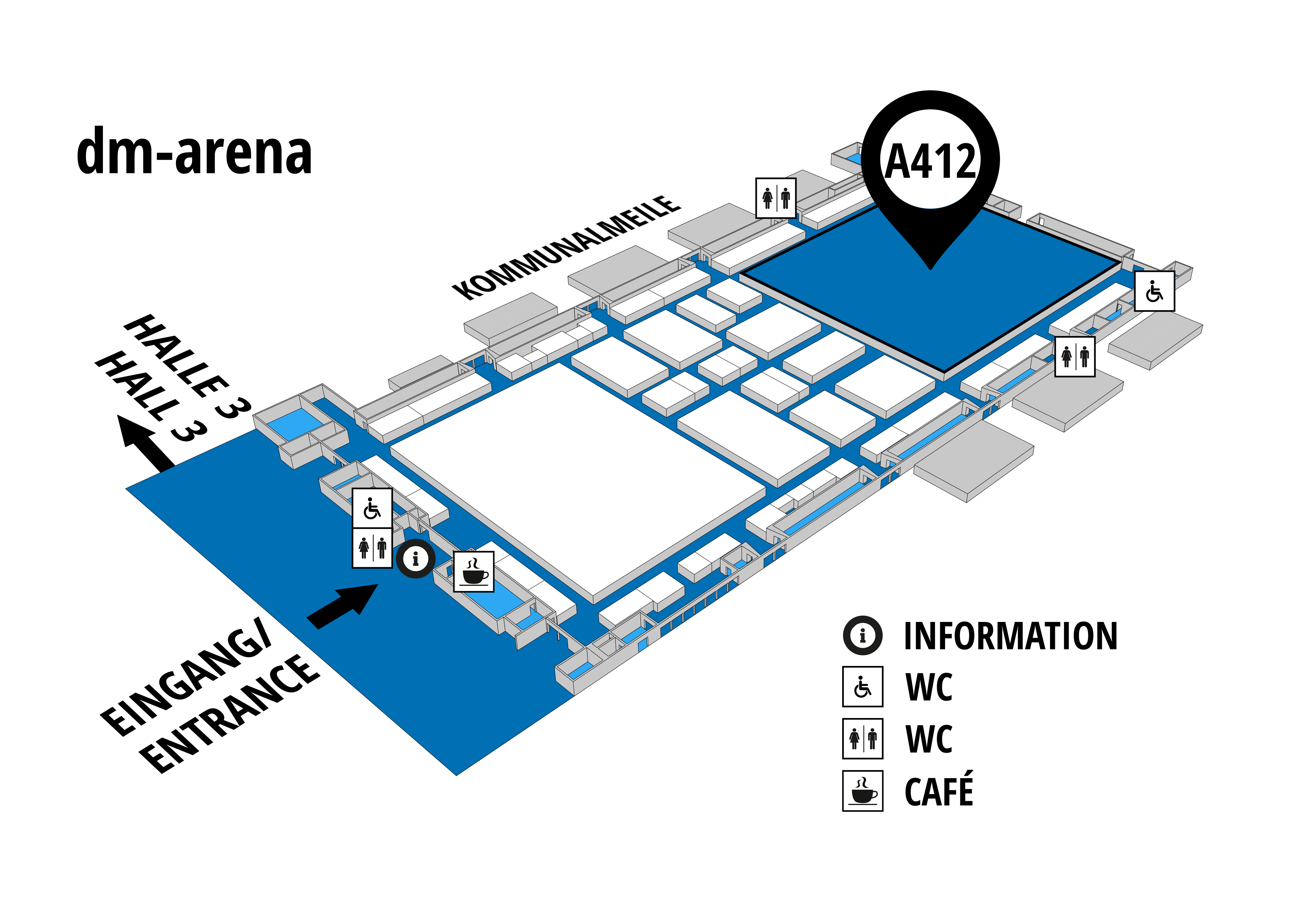 NUFAM 2019 - Trade fair for commercial vehicles hall map (dm-arena): stand A 412