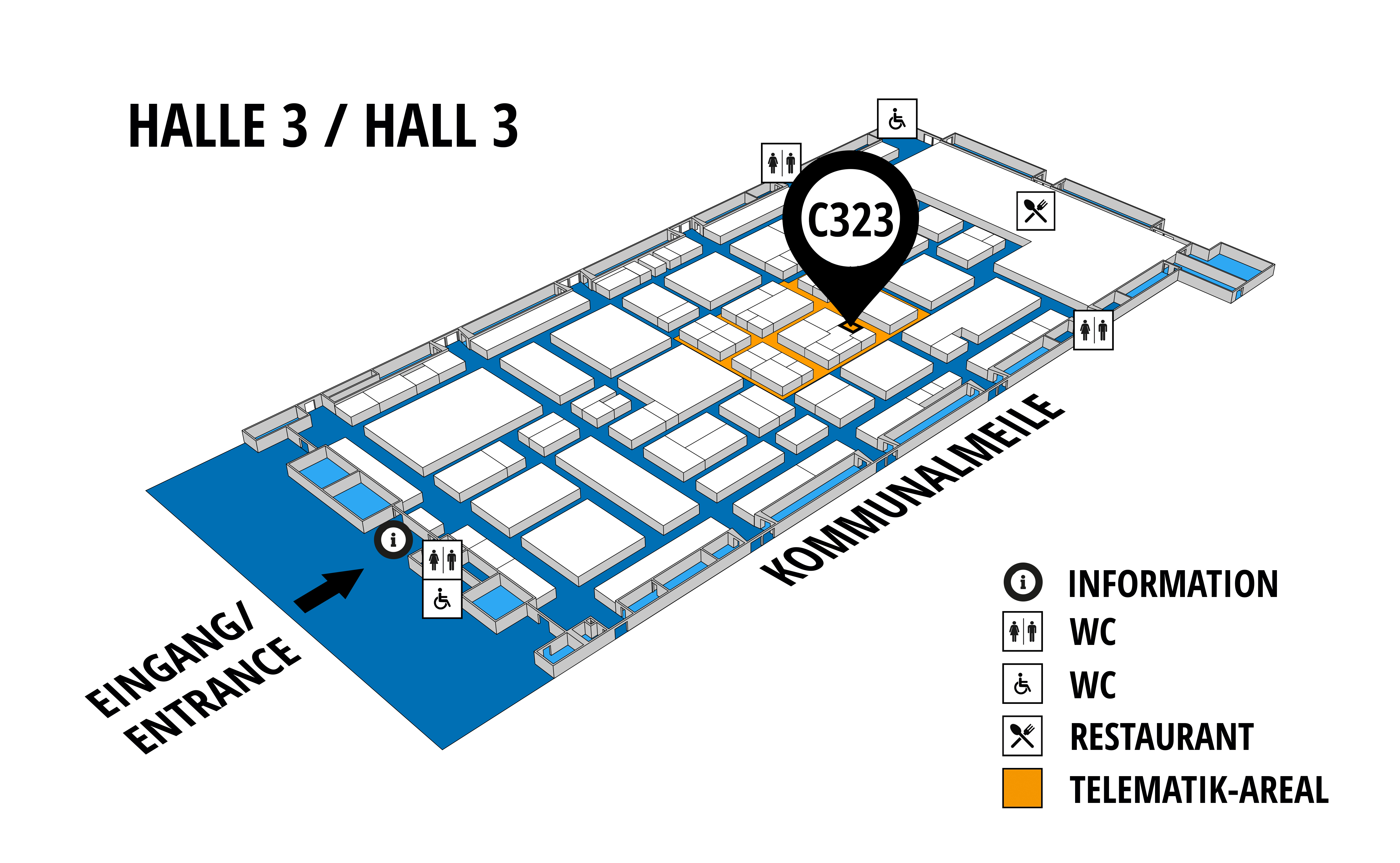 NUFAM 2019 - Trade fair for commercial vehicles hall map (Hall 3): stand C 323