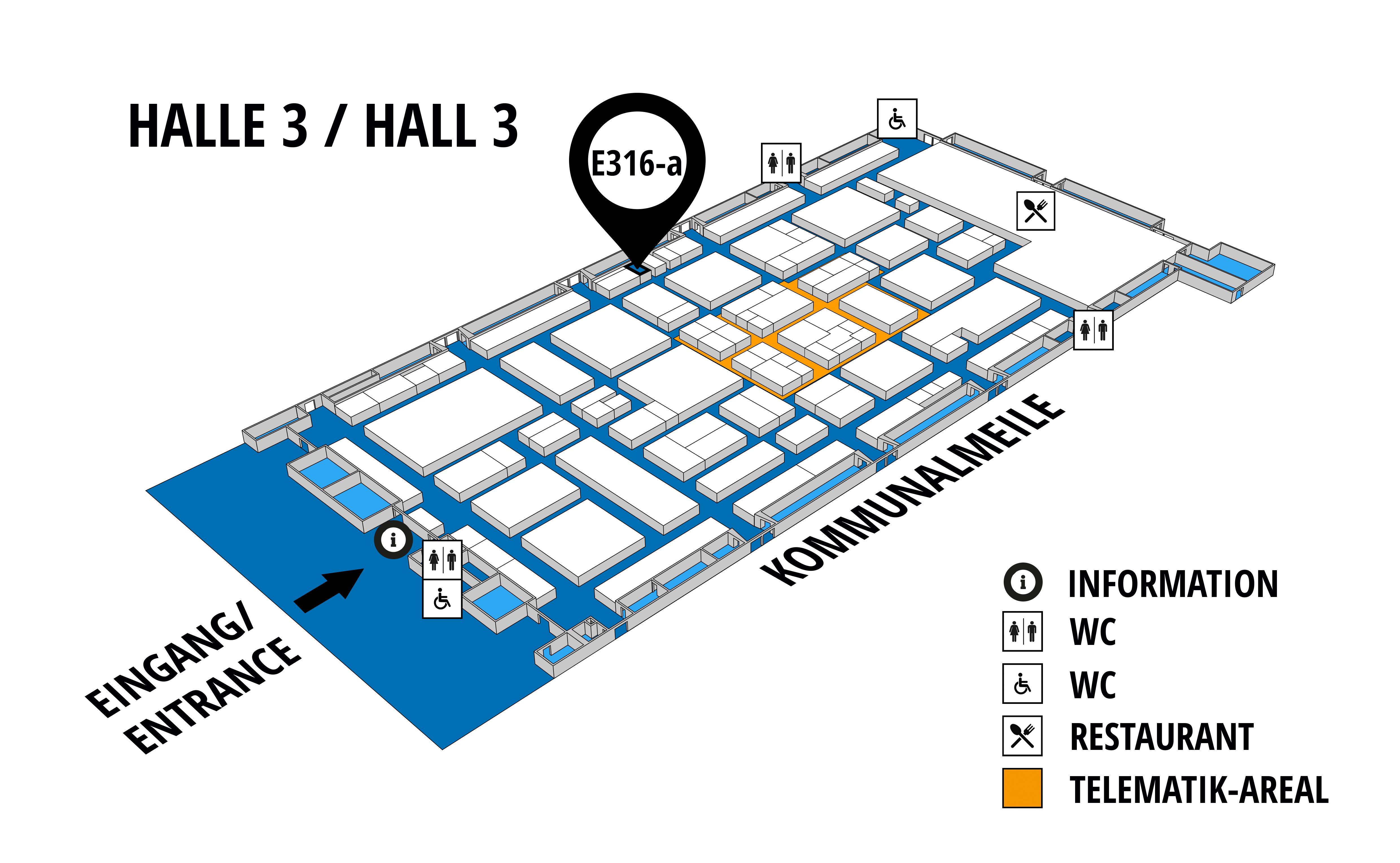 NUFAM 2019 - Trade fair for commercial vehicles hall map (Hall 3): stand E 316 a