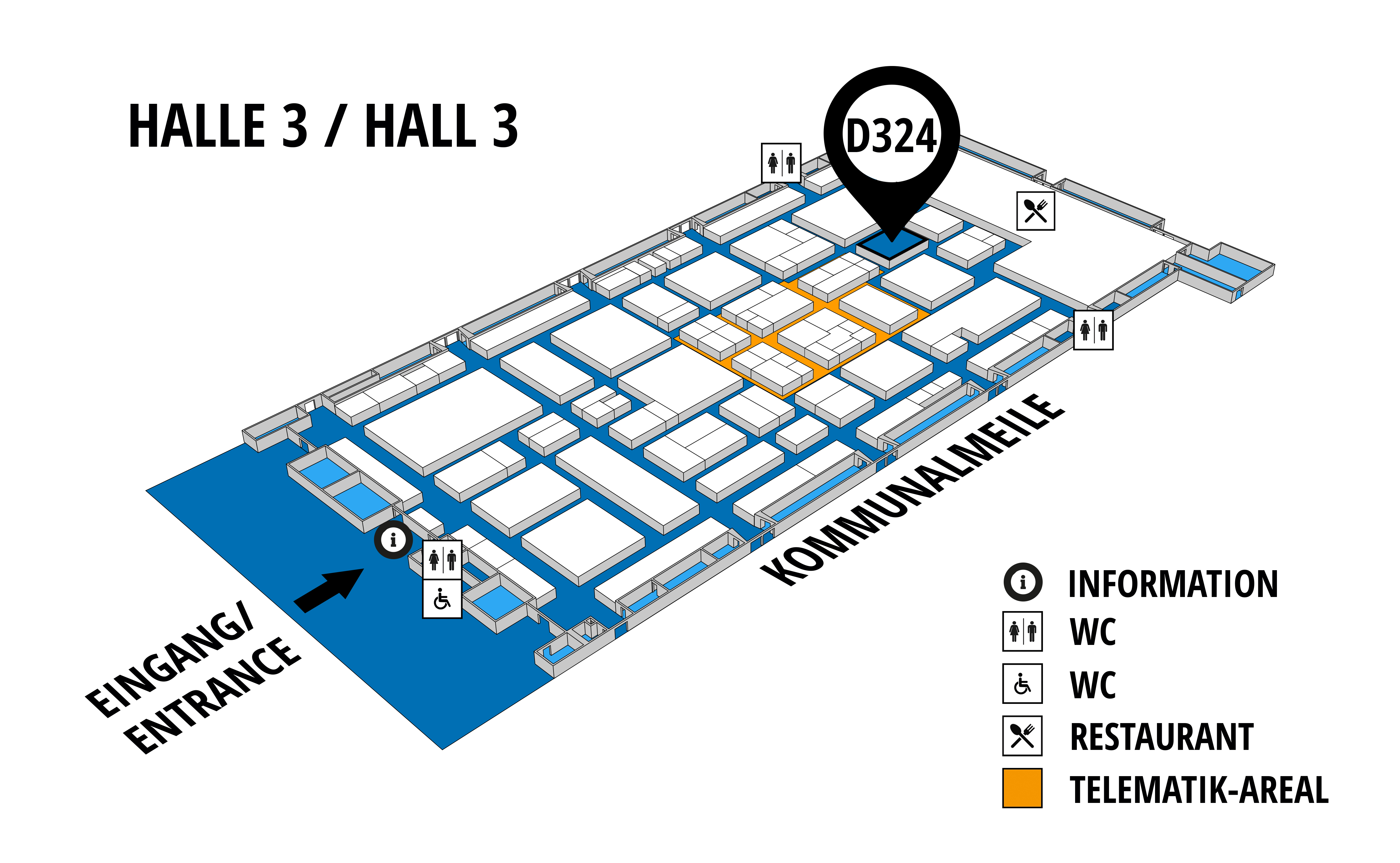 NUFAM 2019 - Trade fair for commercial vehicles hall map (Hall 3): stand D 324