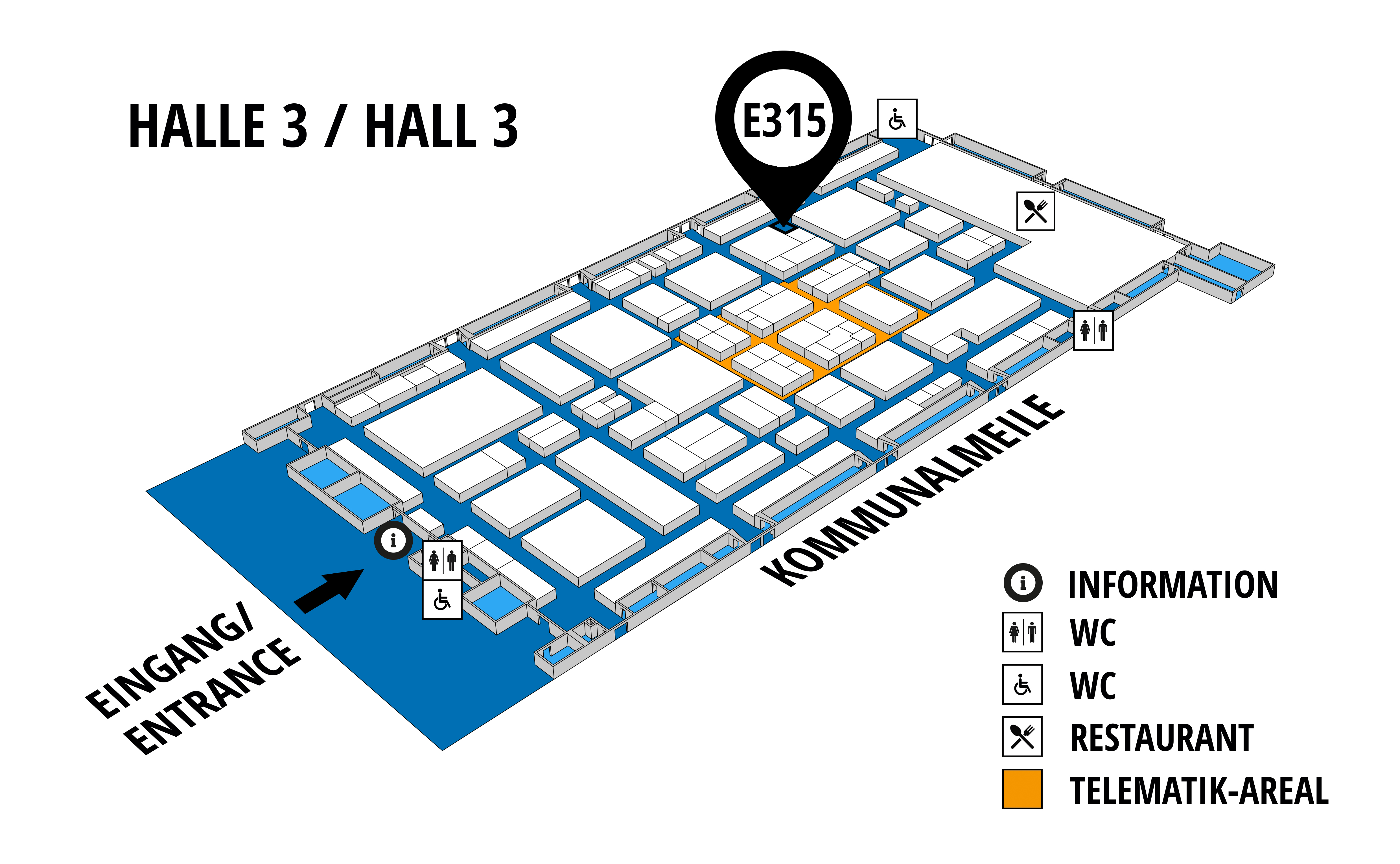NUFAM 2019 - Trade fair for commercial vehicles hall map (Hall 3): stand E 315