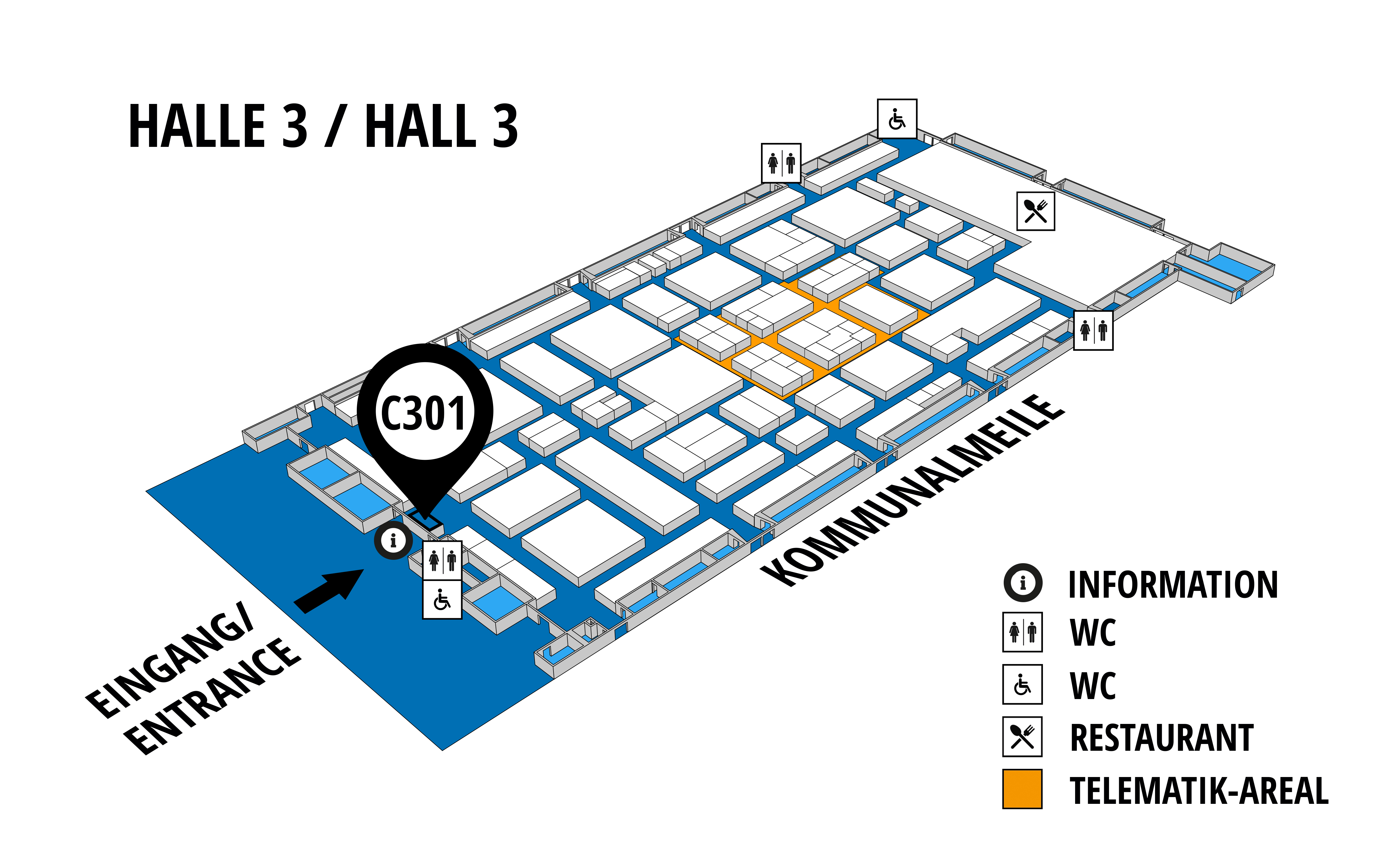 NUFAM 2019 - Trade fair for commercial vehicles hall map (Hall 3): stand C 301