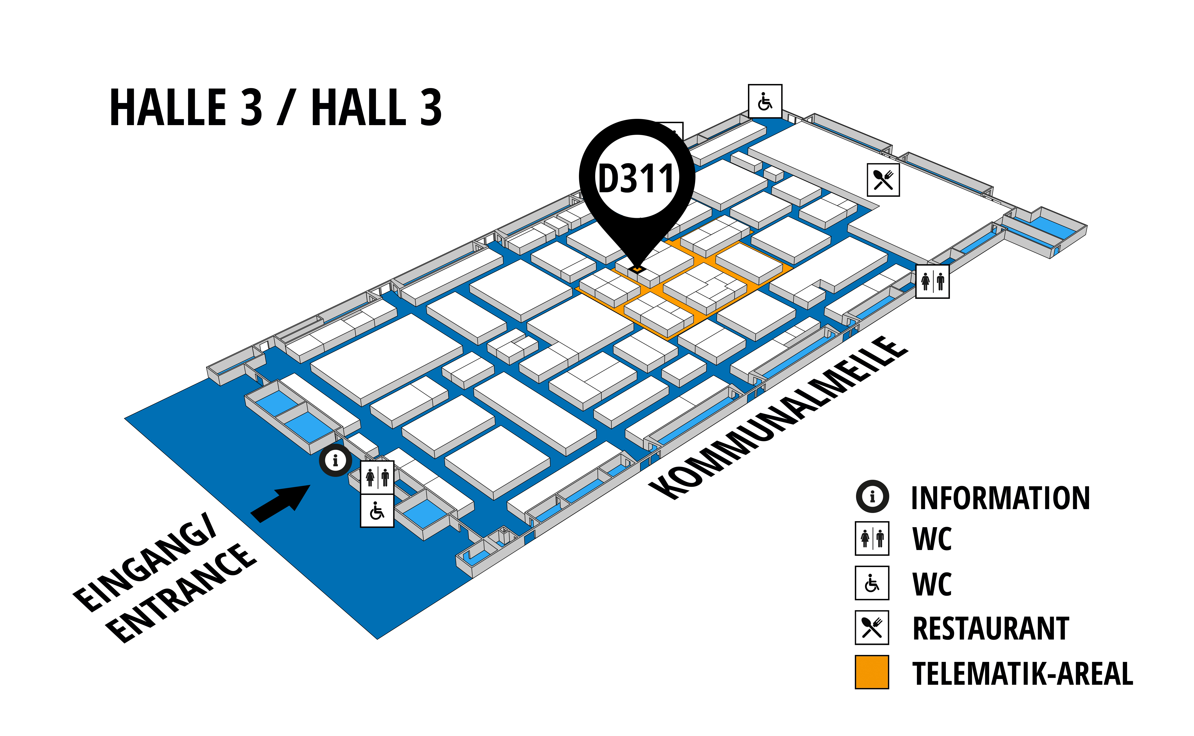 NUFAM 2019 - Trade fair for commercial vehicles hall map (Hall 3): stand D 311