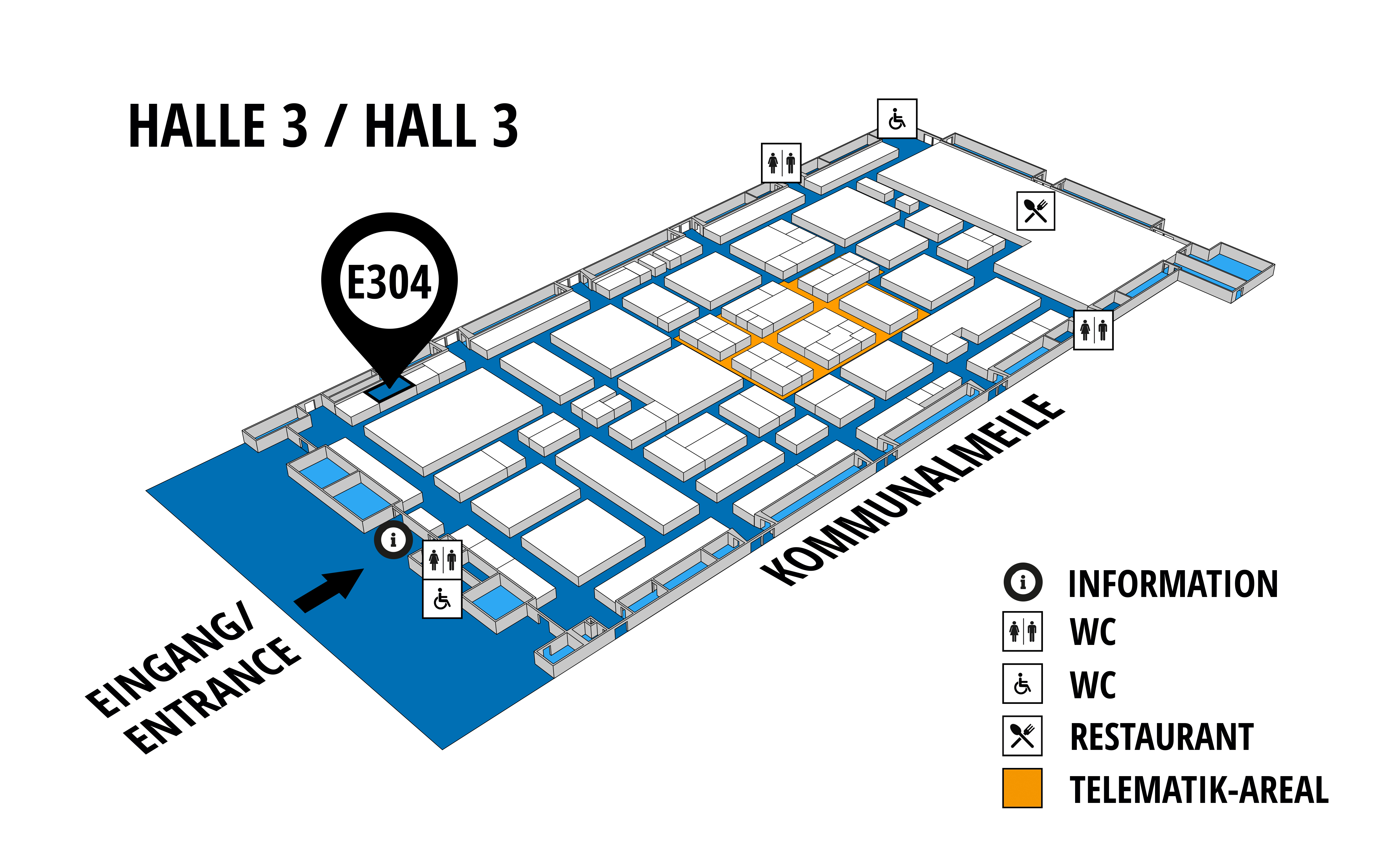 NUFAM 2019 - Trade fair for commercial vehicles hall map (Hall 3): stand E 304