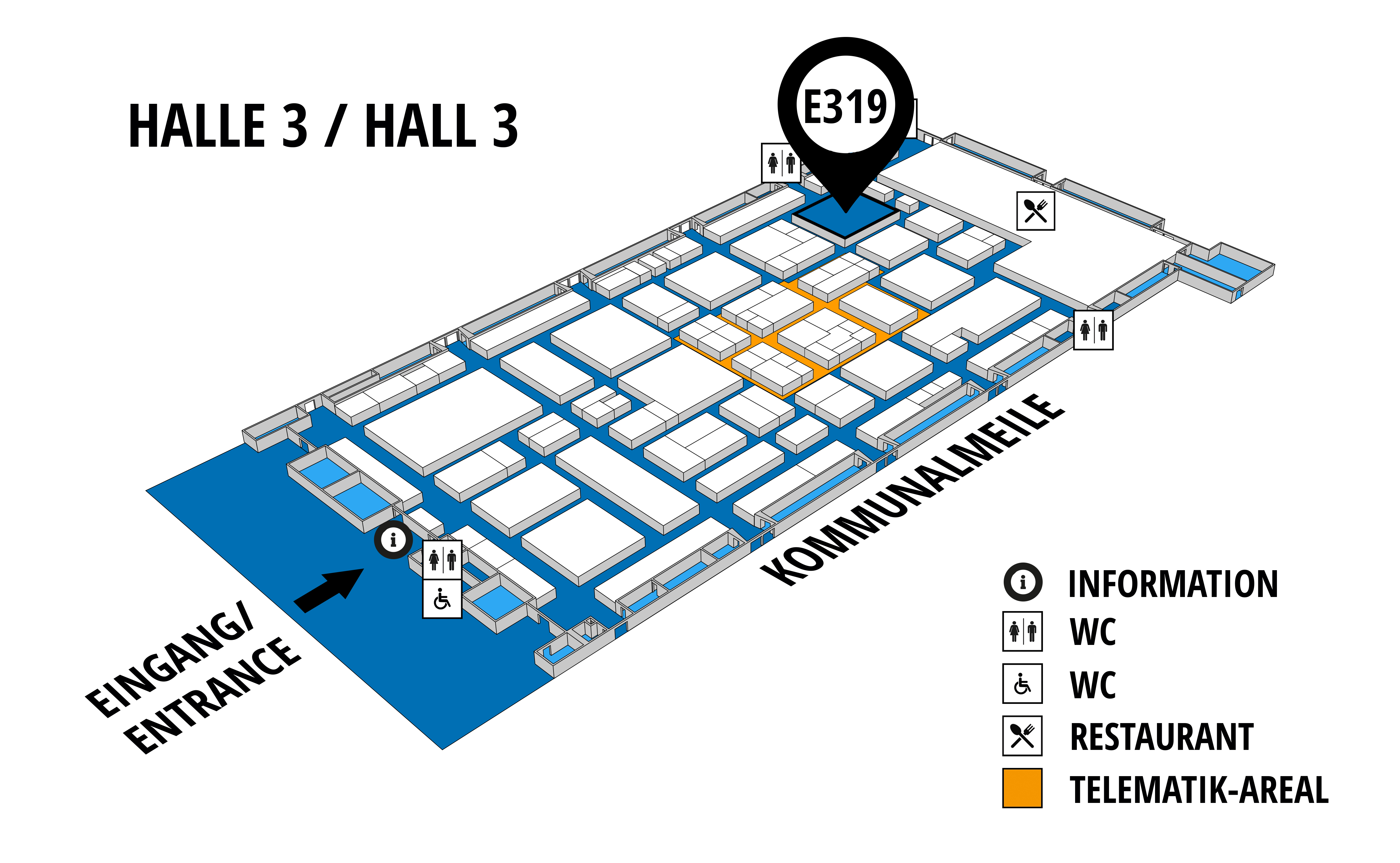 NUFAM 2019 - Trade fair for commercial vehicles hall map (Hall 3): stand E 319