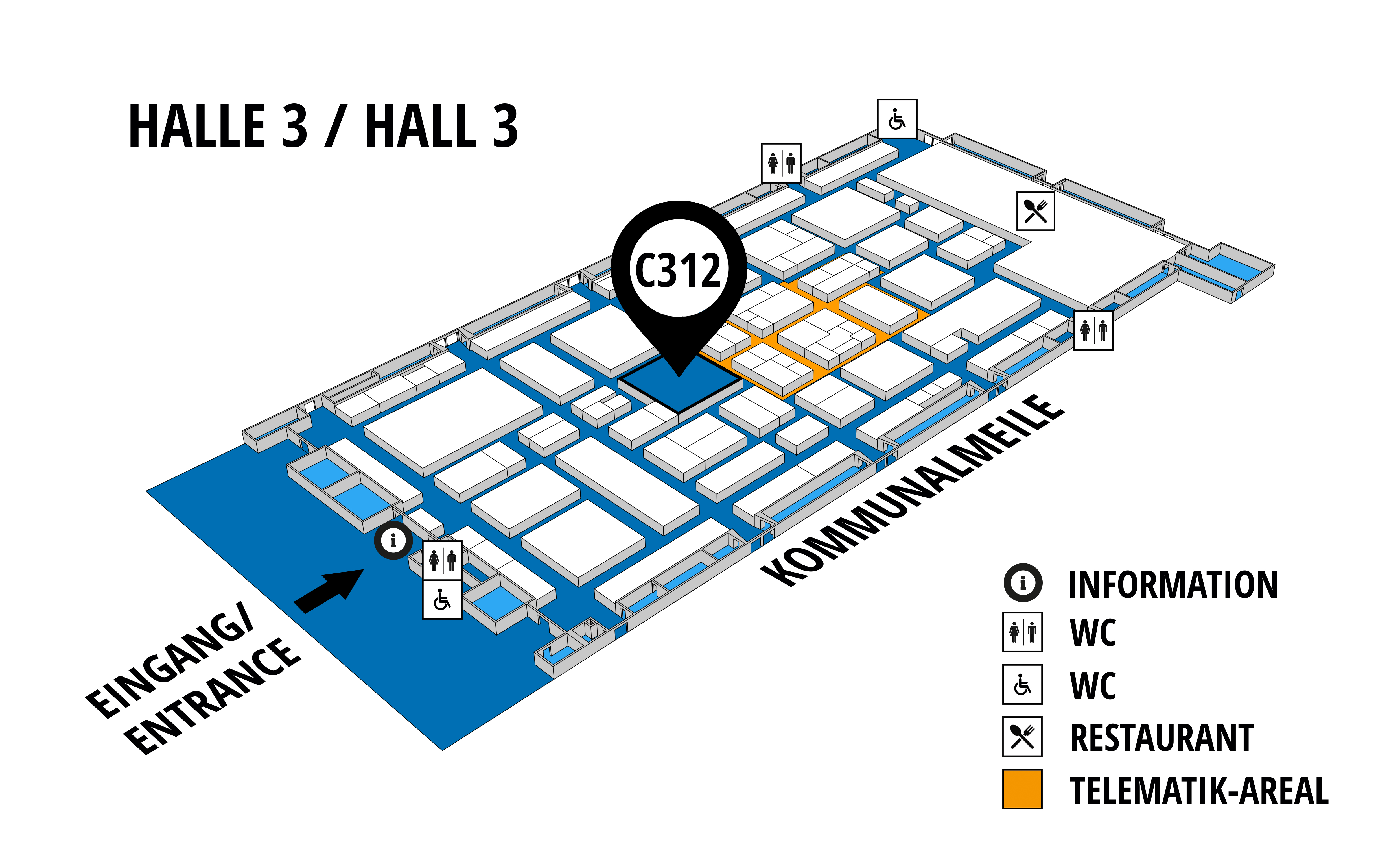 NUFAM 2019 - Trade fair for commercial vehicles hall map (Hall 3): stand C 312