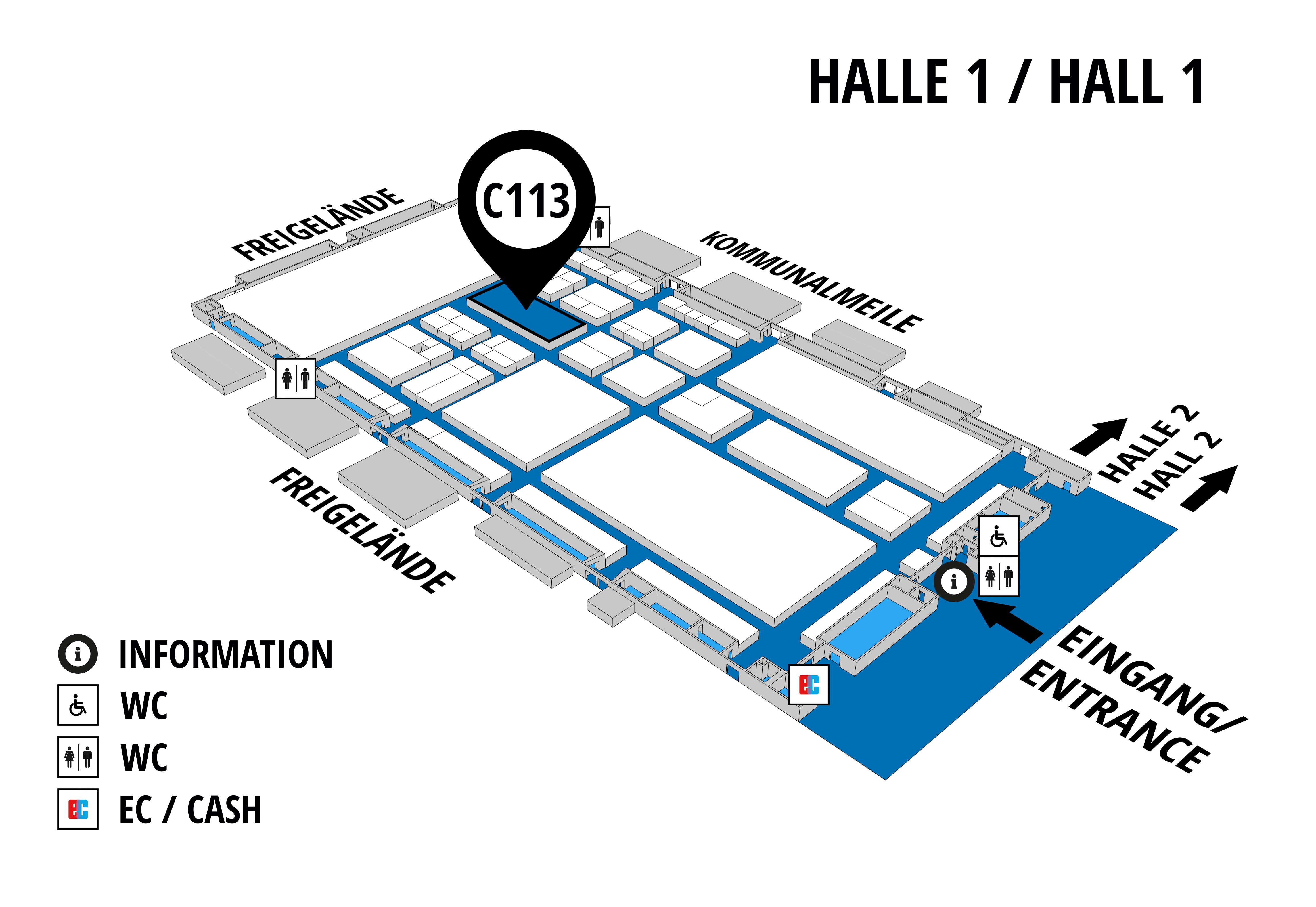 NUFAM 2019 - Trade fair for commercial vehicles hall map (Hall 1): stand C 113