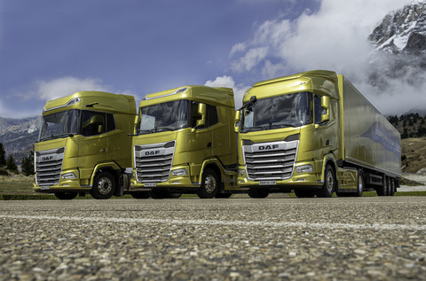 01 The New Generation DAF trucks 2021 From left to right XGplus XG and XF